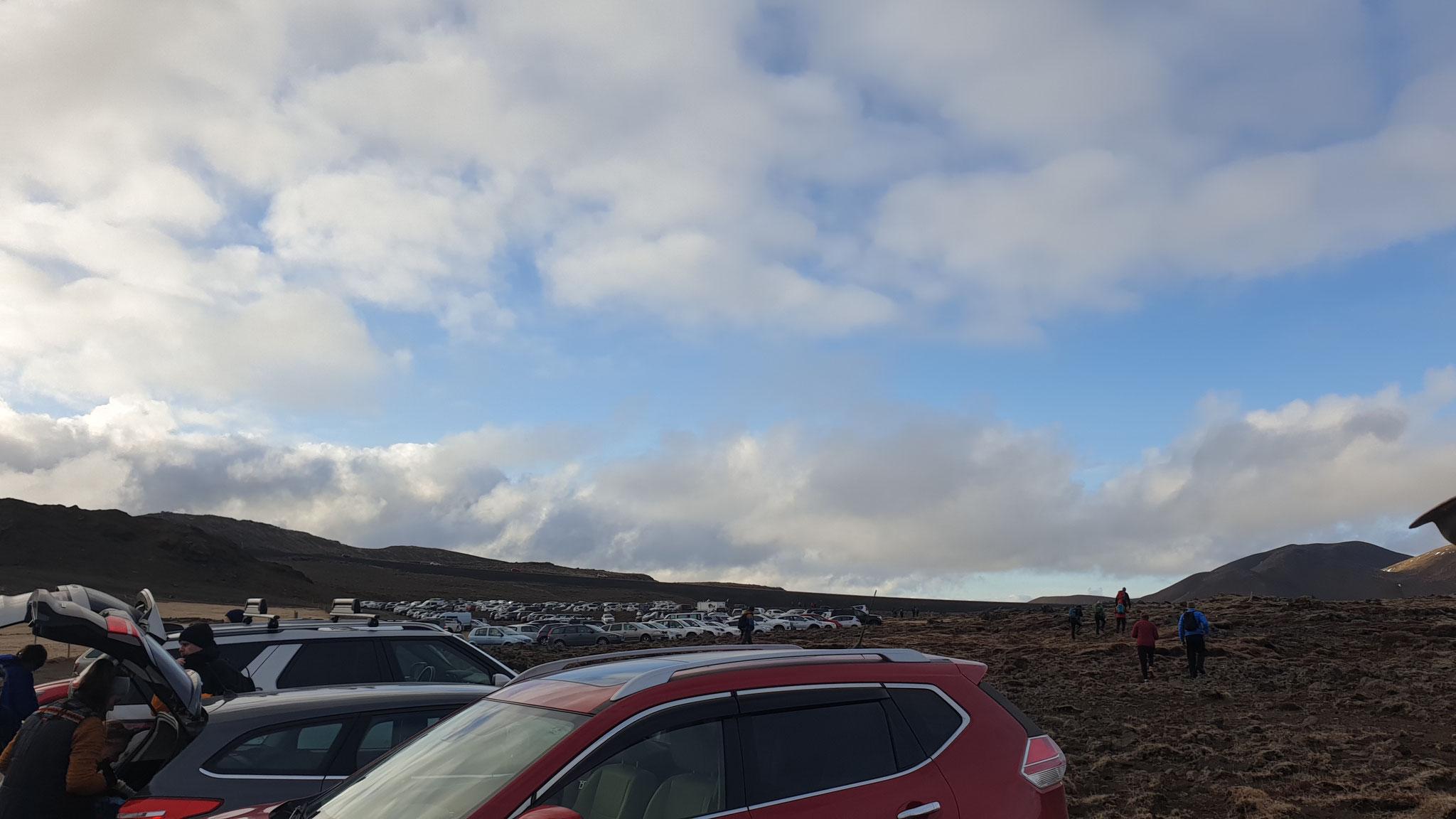 Der Parkplatz vor der Wanderung