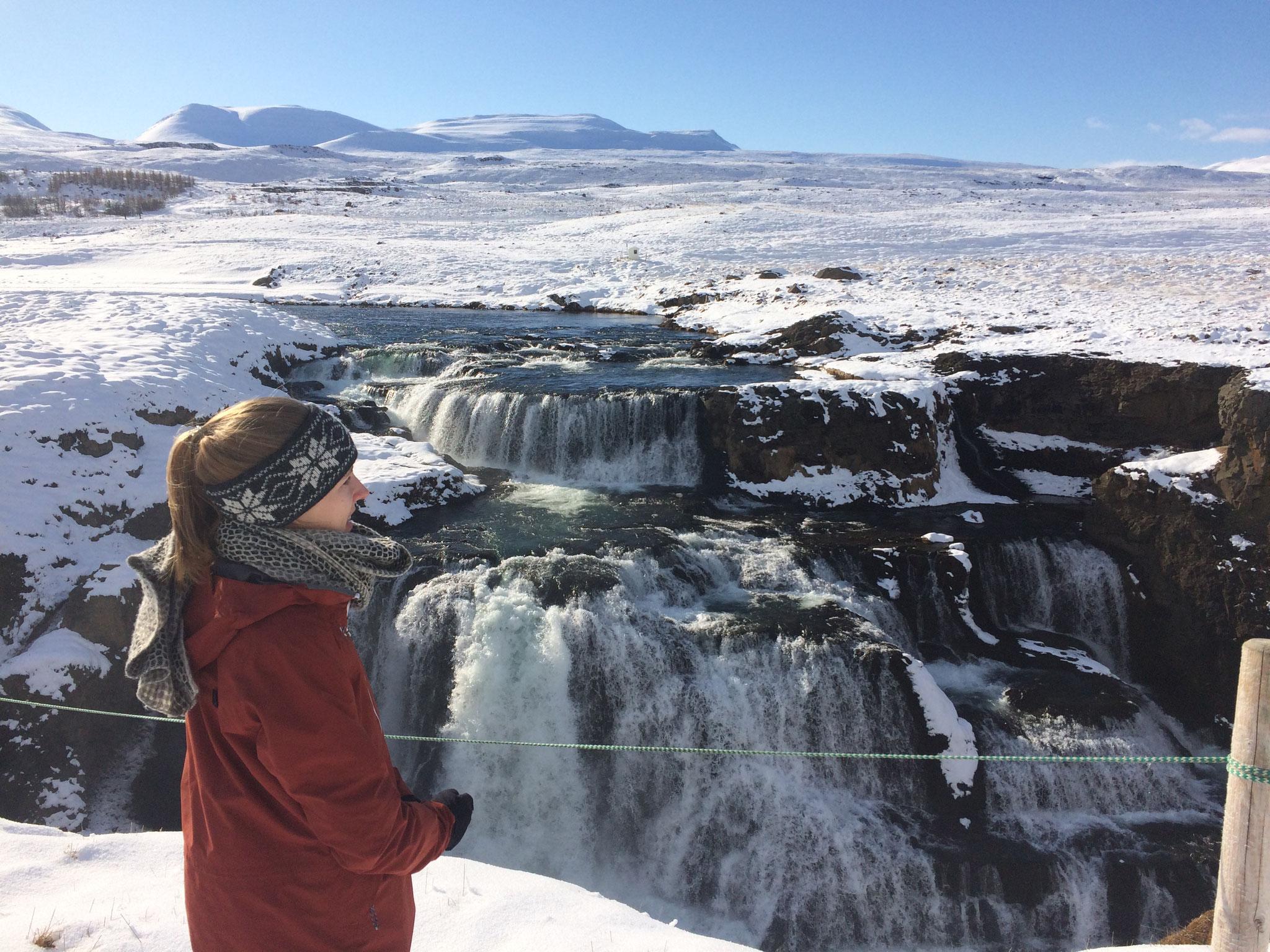 Wasserfall Reykjafoss im Norden von Island