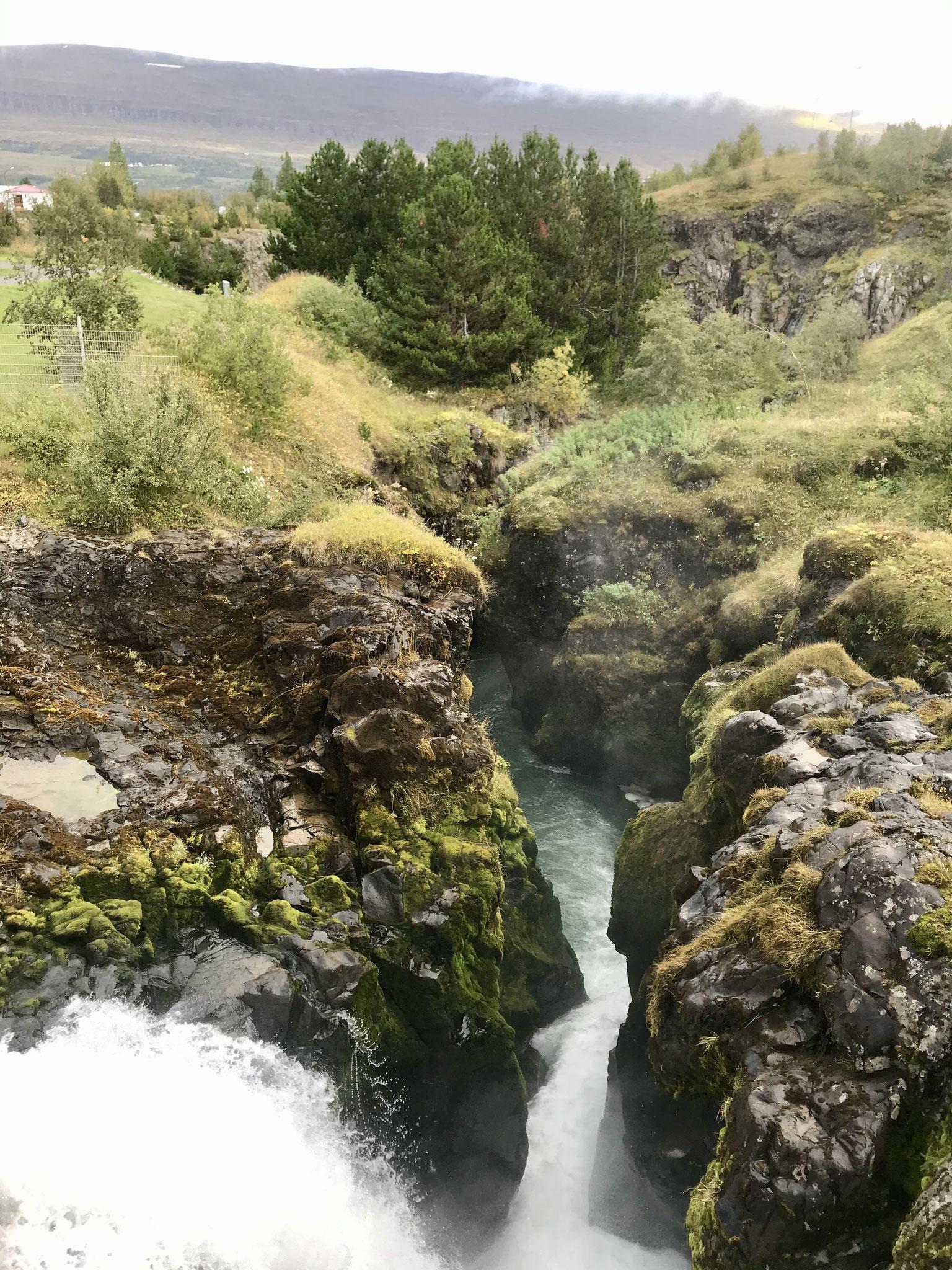 Die Glerá - der Fluss in Akureyi