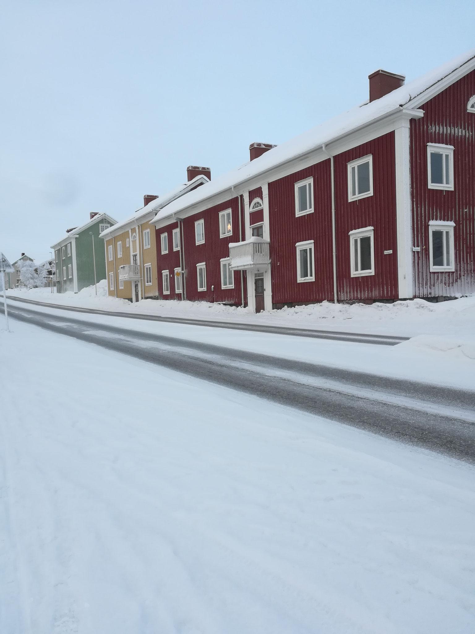 Straße in Kiruna