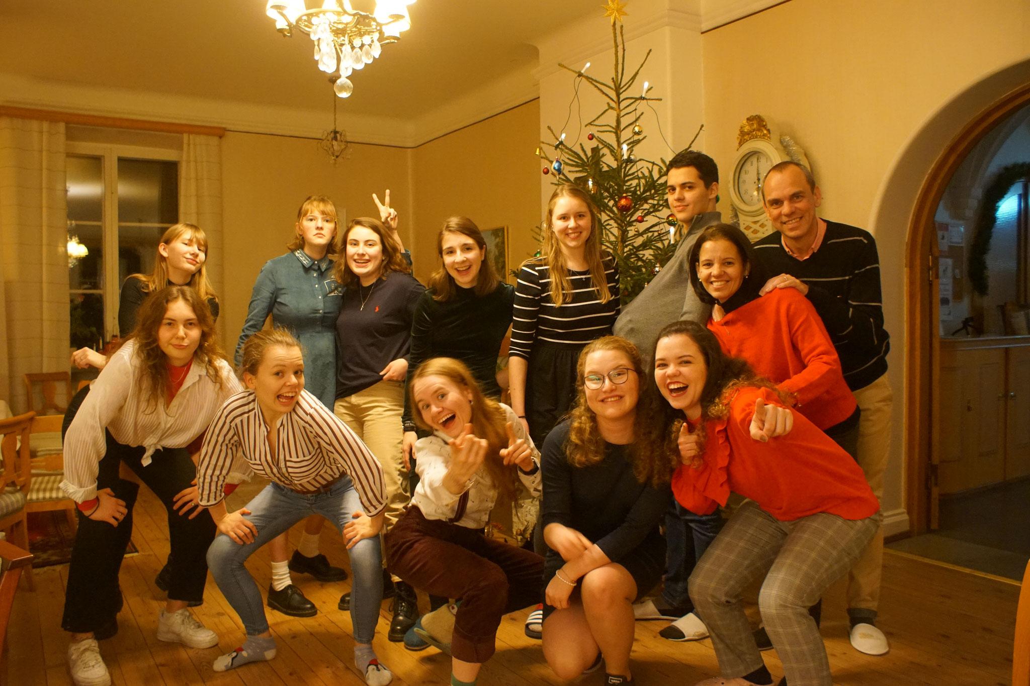 Weihnachten mit vielen Praktikanten in Vadstena