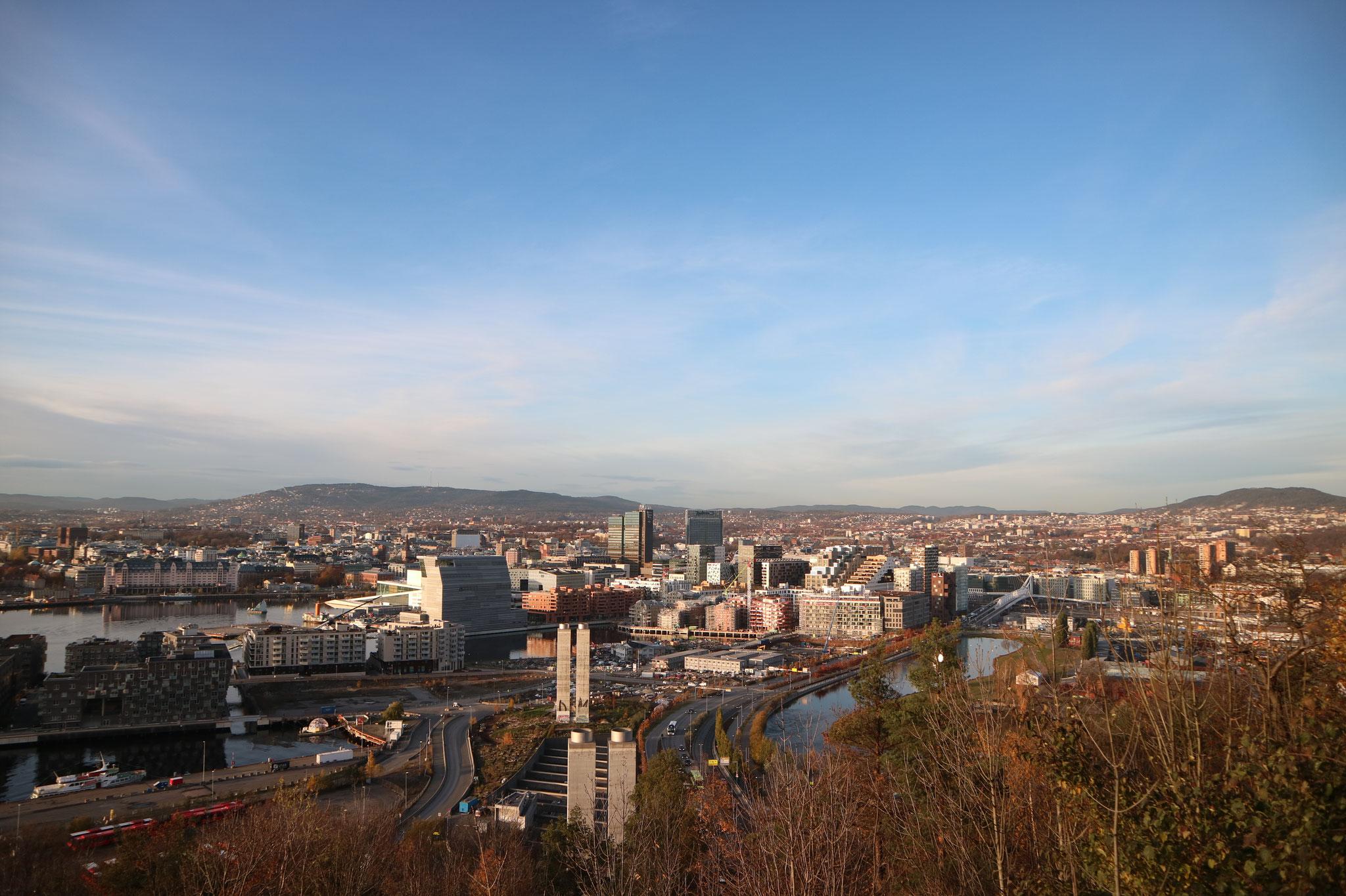 Blick auf Oslo vom Ekebergparken