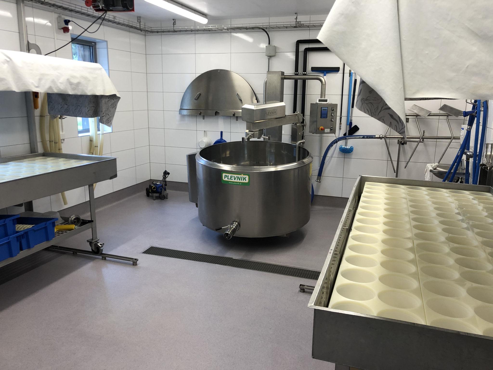 Die berühmte Käsemanufaktur der Mönche von Munkeby.