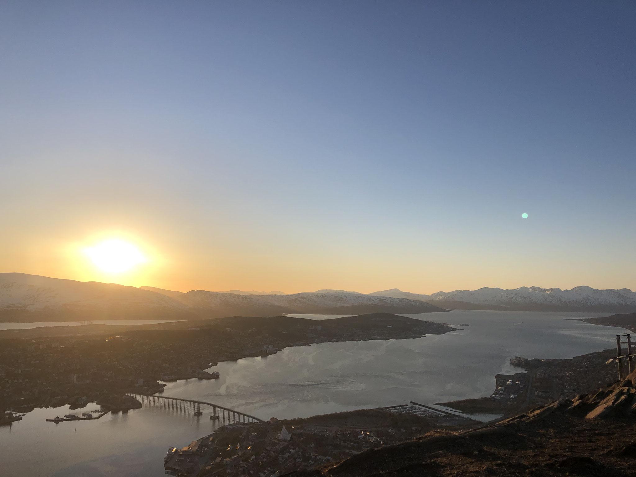 Mitternachtssonne über Tromsø