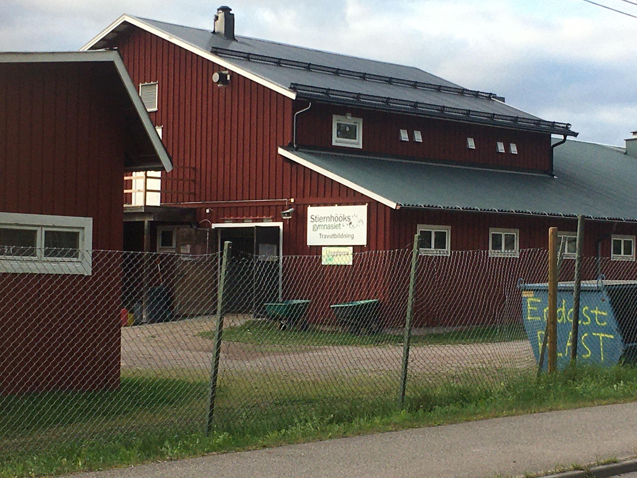 Ein Teil von Rättviks Gymnasium (Foto: Inga)