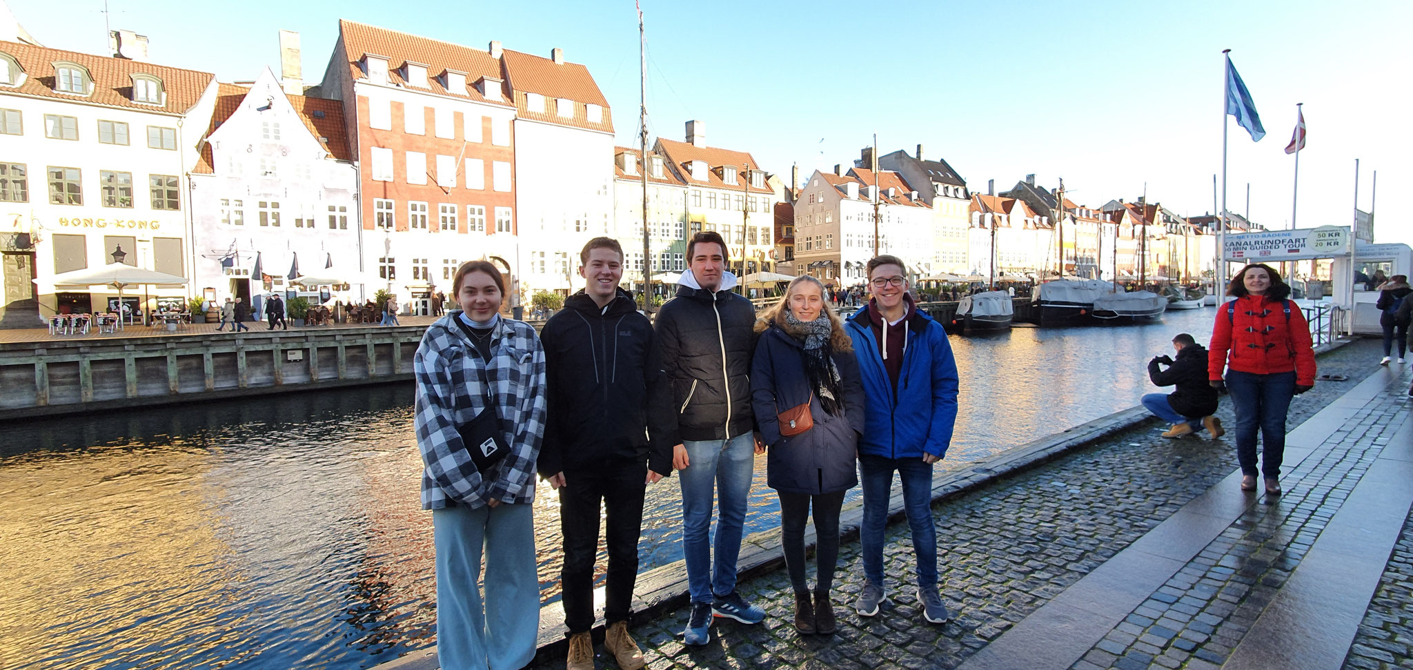 (v.l.) Greta, Lasse, Philipp, Franzi, Thomas - Zu Besuch in Kopenhagen