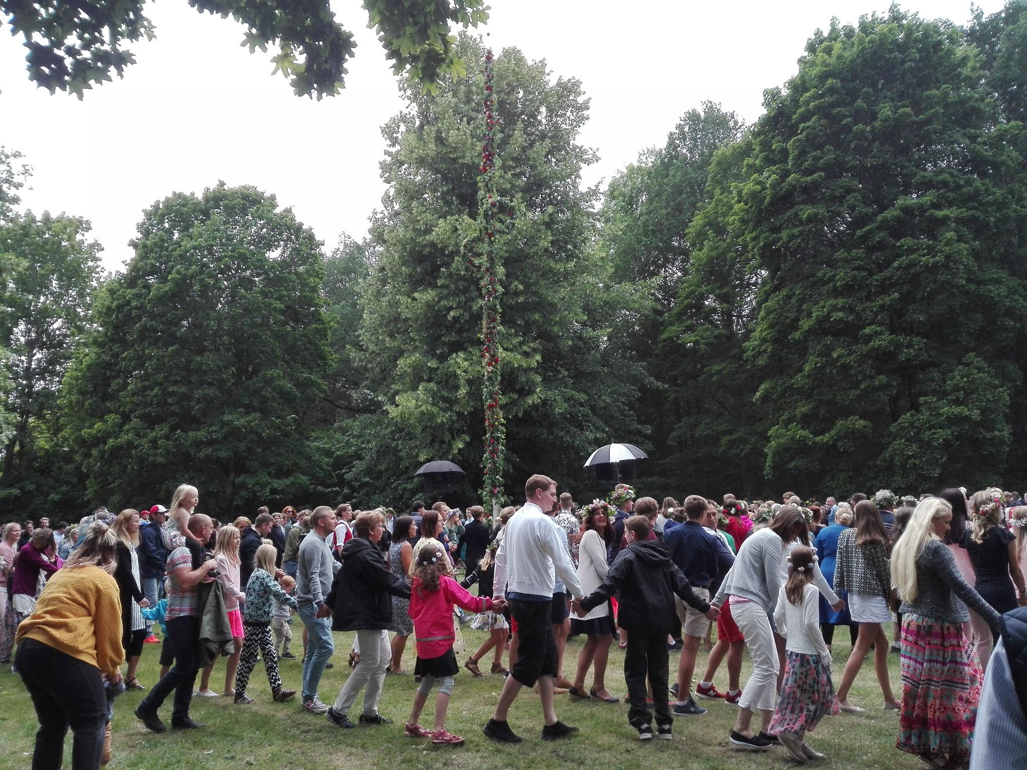 Midsommarfeier in Vadstena