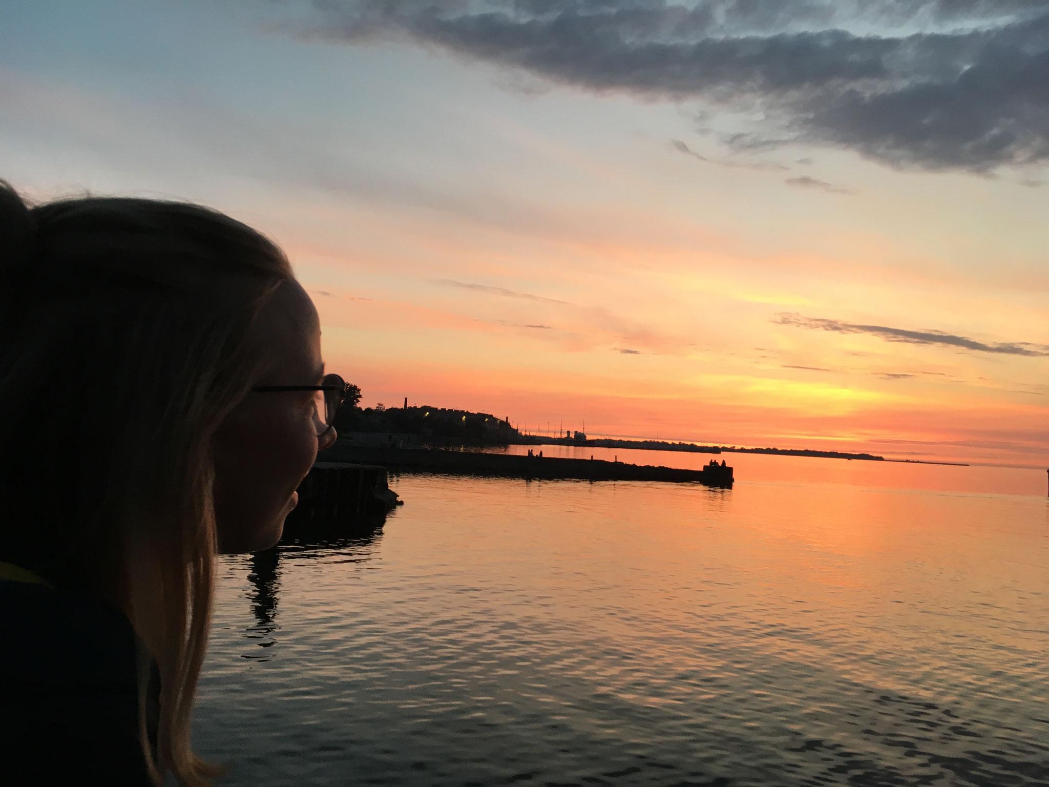 Sonnenuntergang in Tallinn