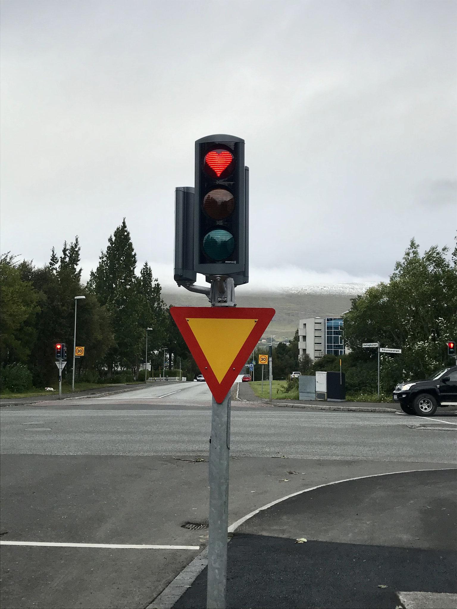 Ampel in Akureyri