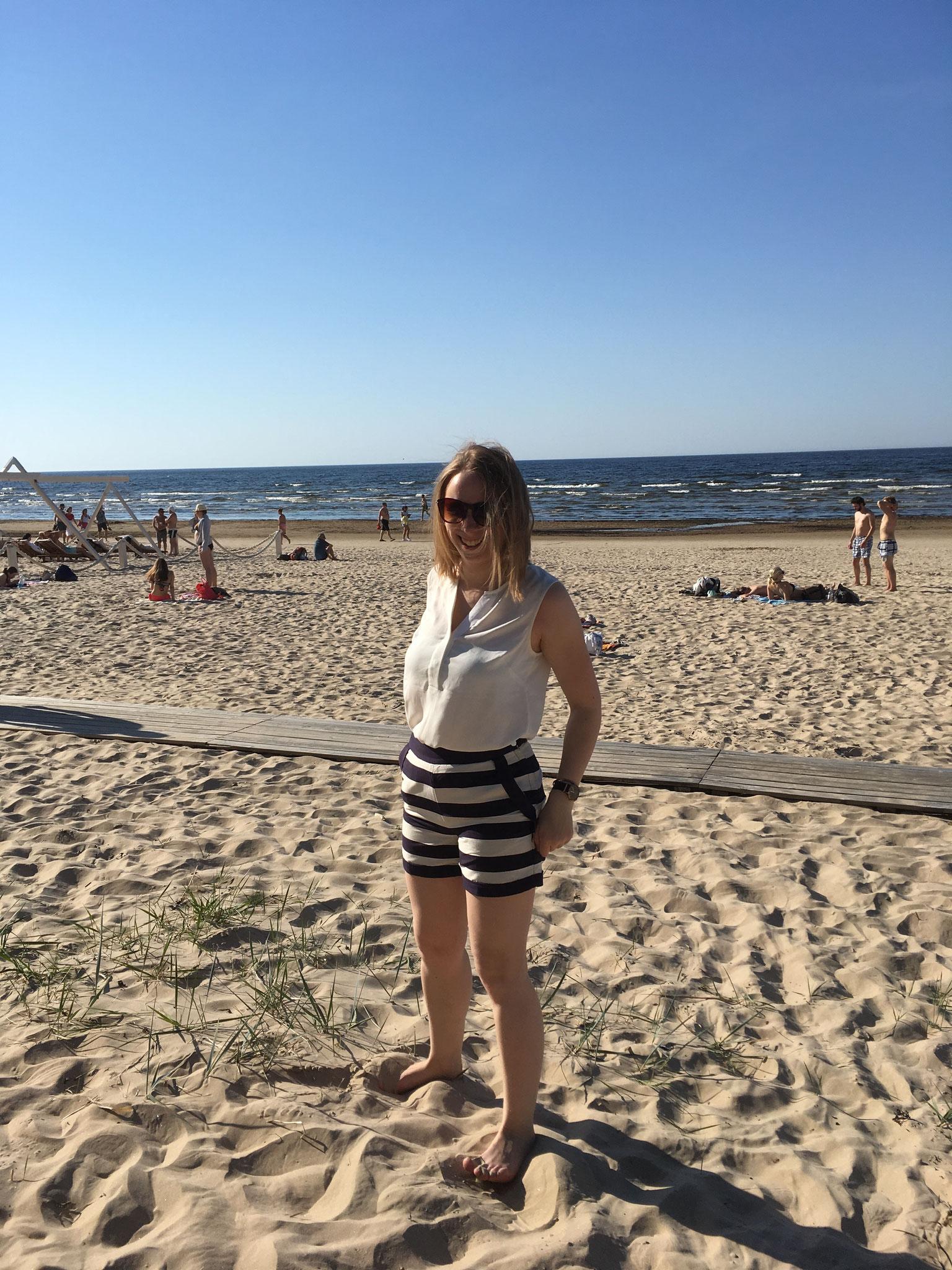 Josephine am Strand von Jumala