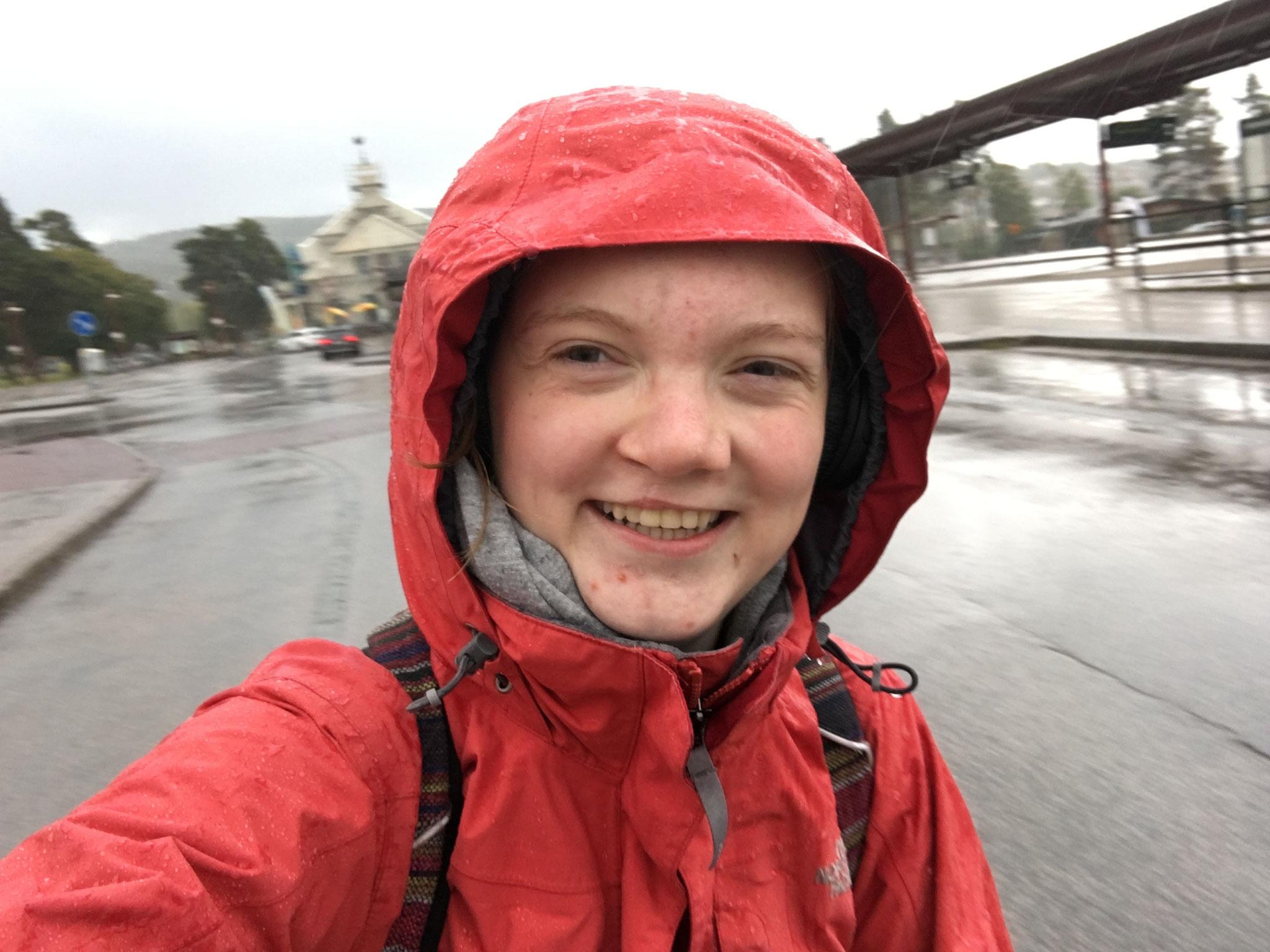 Wanderung im Regen vom Steg in mein Zimmer (Foto: Inga)