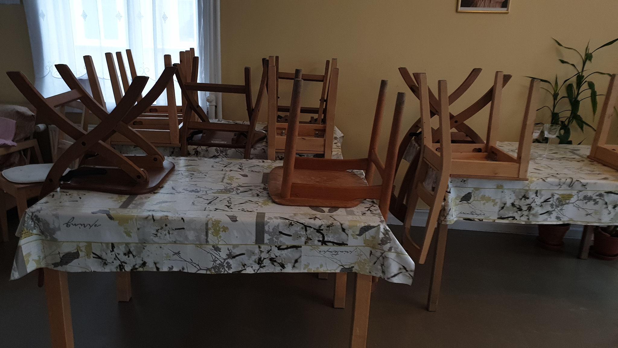 Essbereich für die Gäste