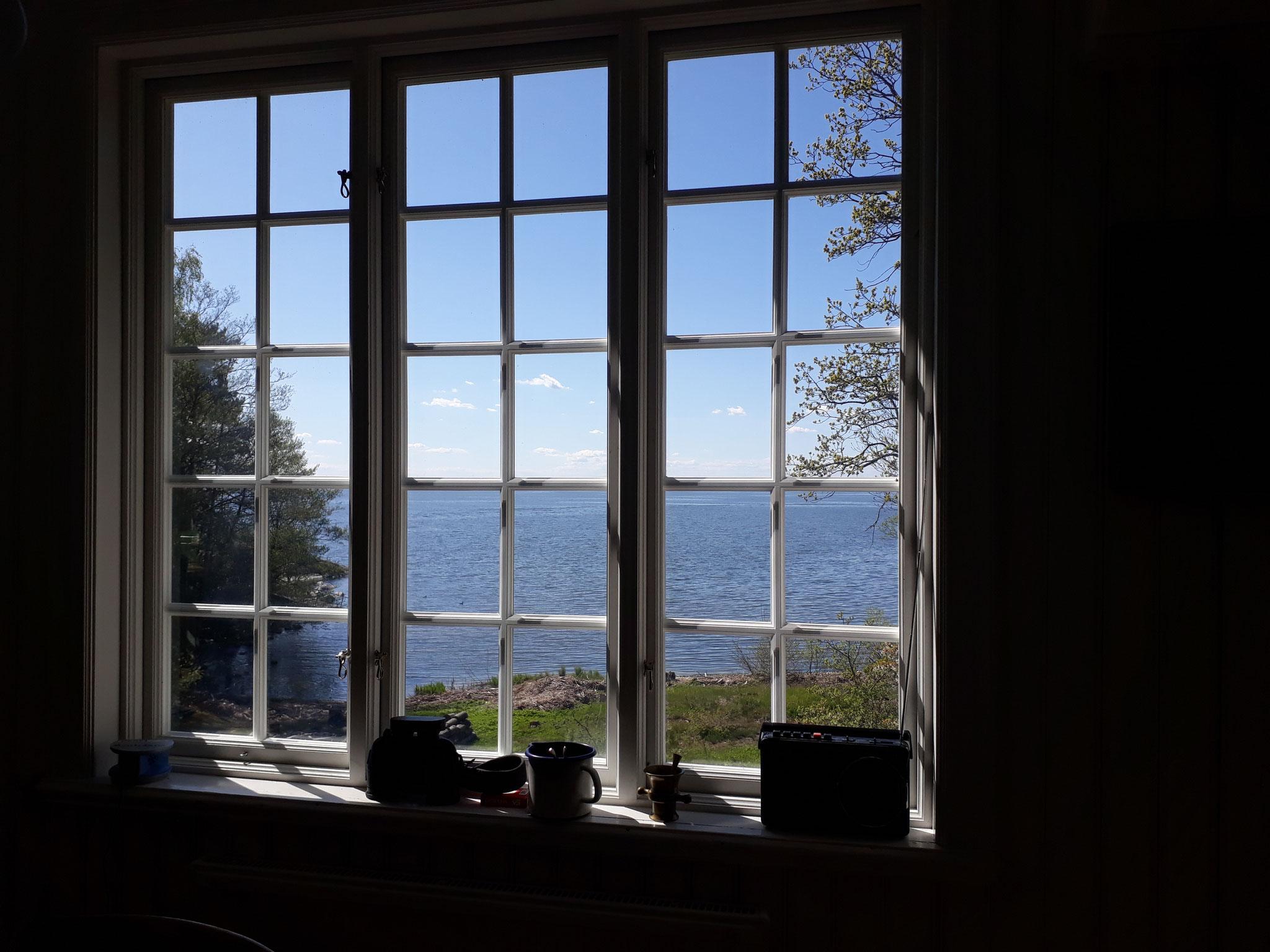 Ein fast schon heimischer Anblick - das Küchenfenster von Marieudd