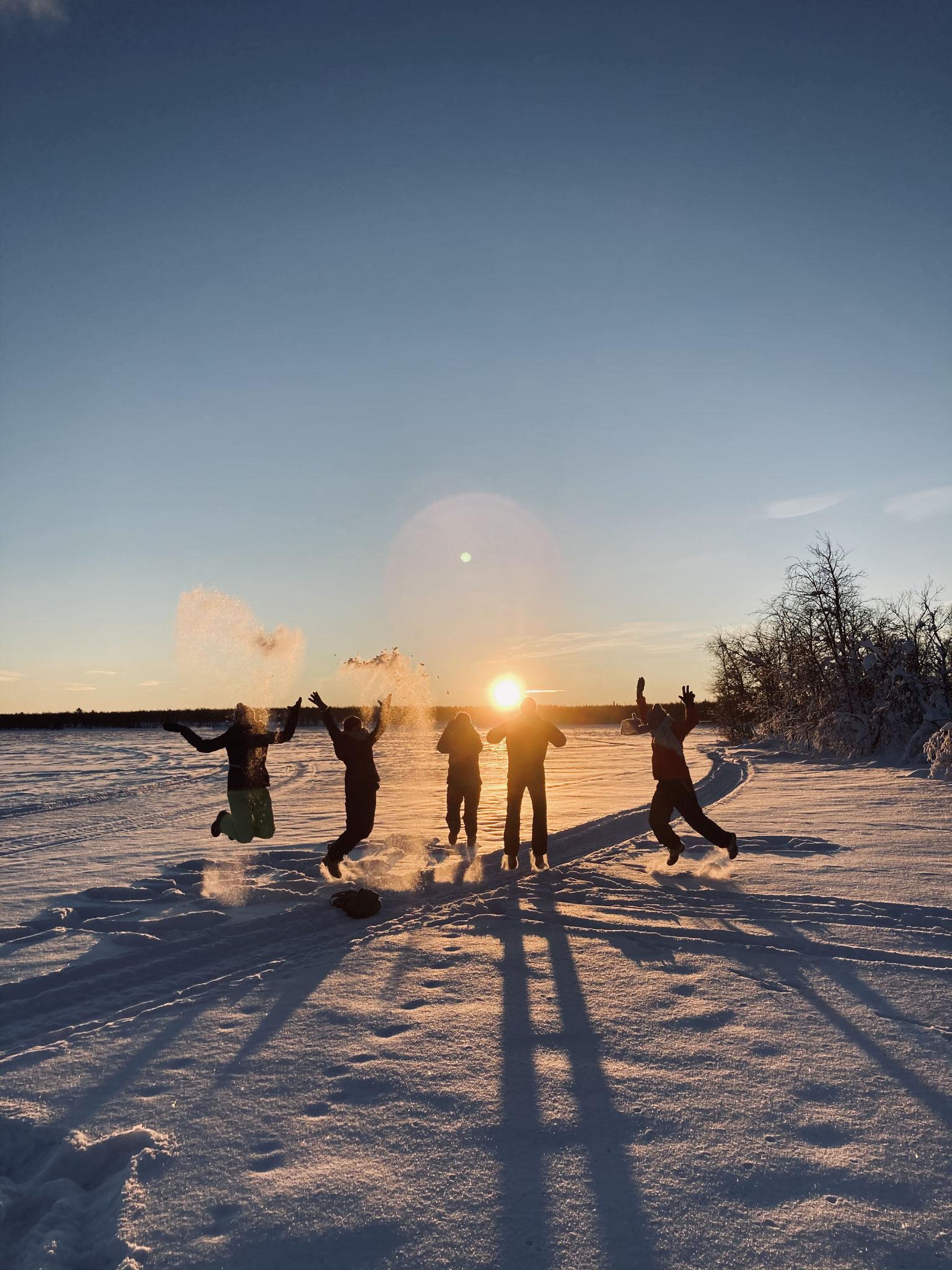 Sonnenuntergang in Lappland