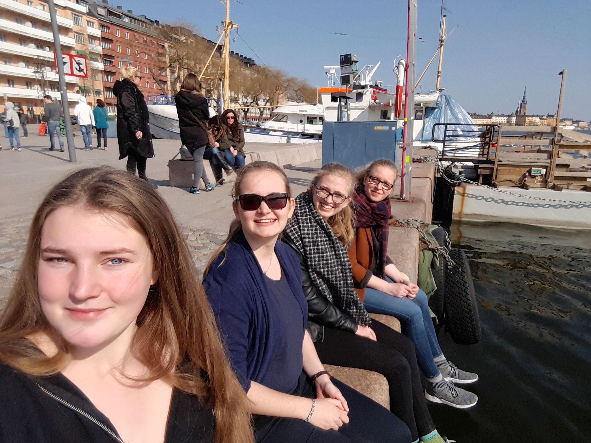 Corona Widmayer, Maria Korten, Magdalena Kollbeck und Stephanie Jarvers in Stockholm