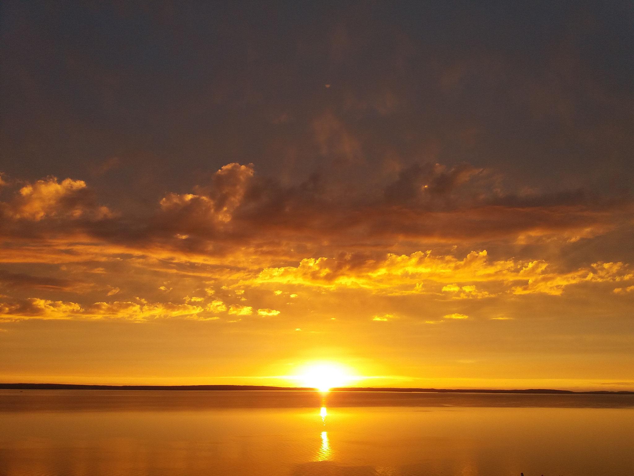 Sonnenuntergang am Vätternsee