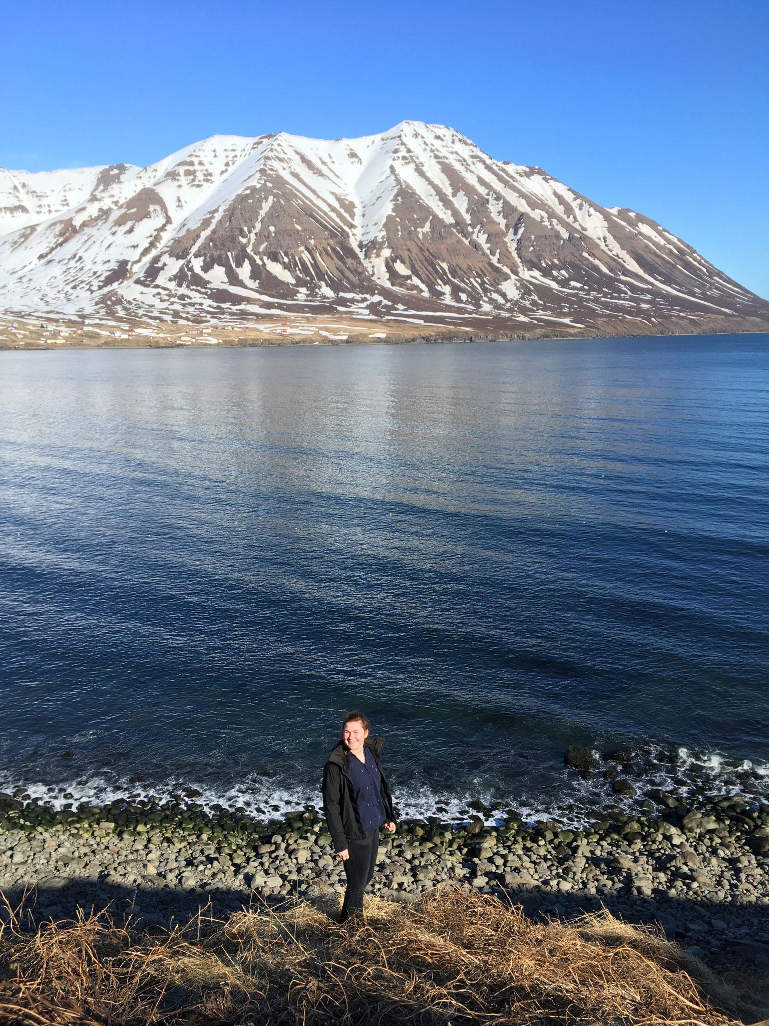 Miriam Schmelz genießt die Landschaft auf Island