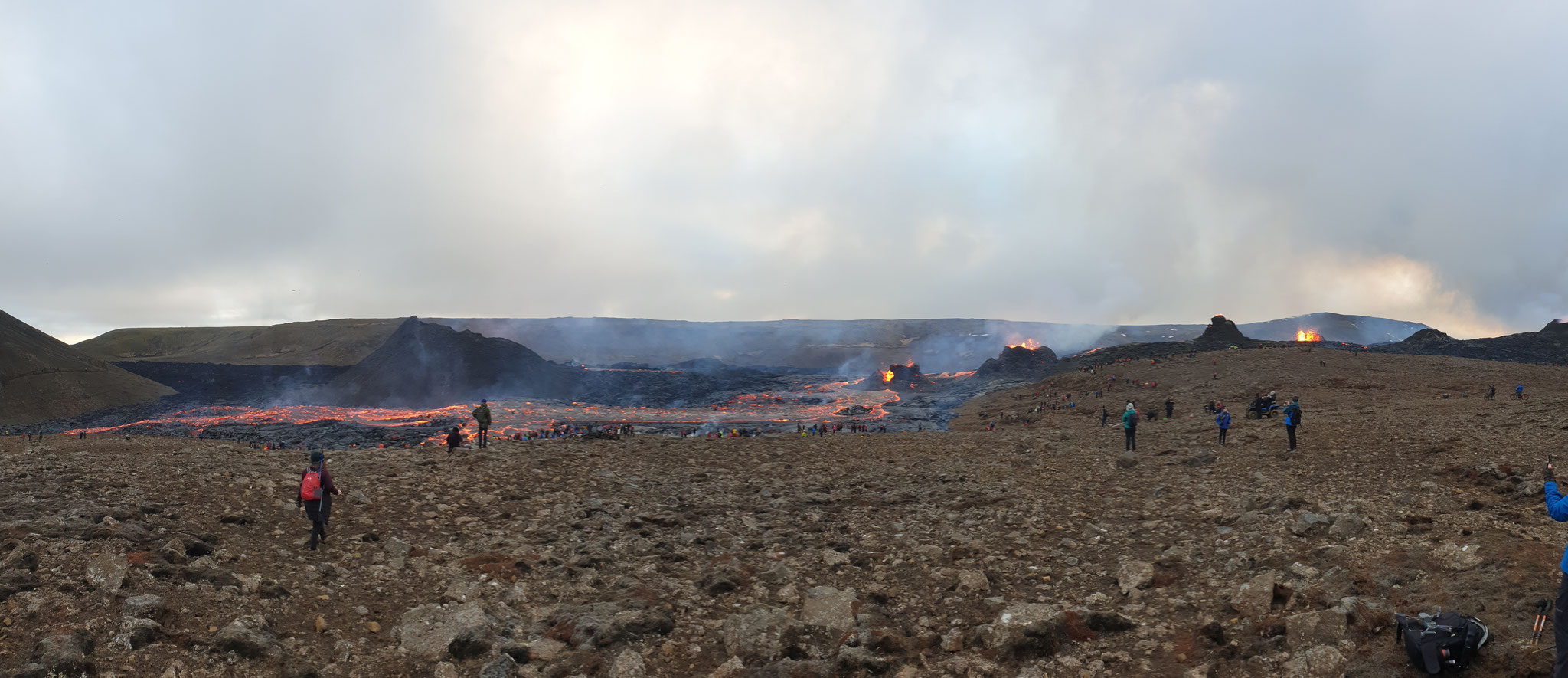 Alle an einem Tag aktiven Krater