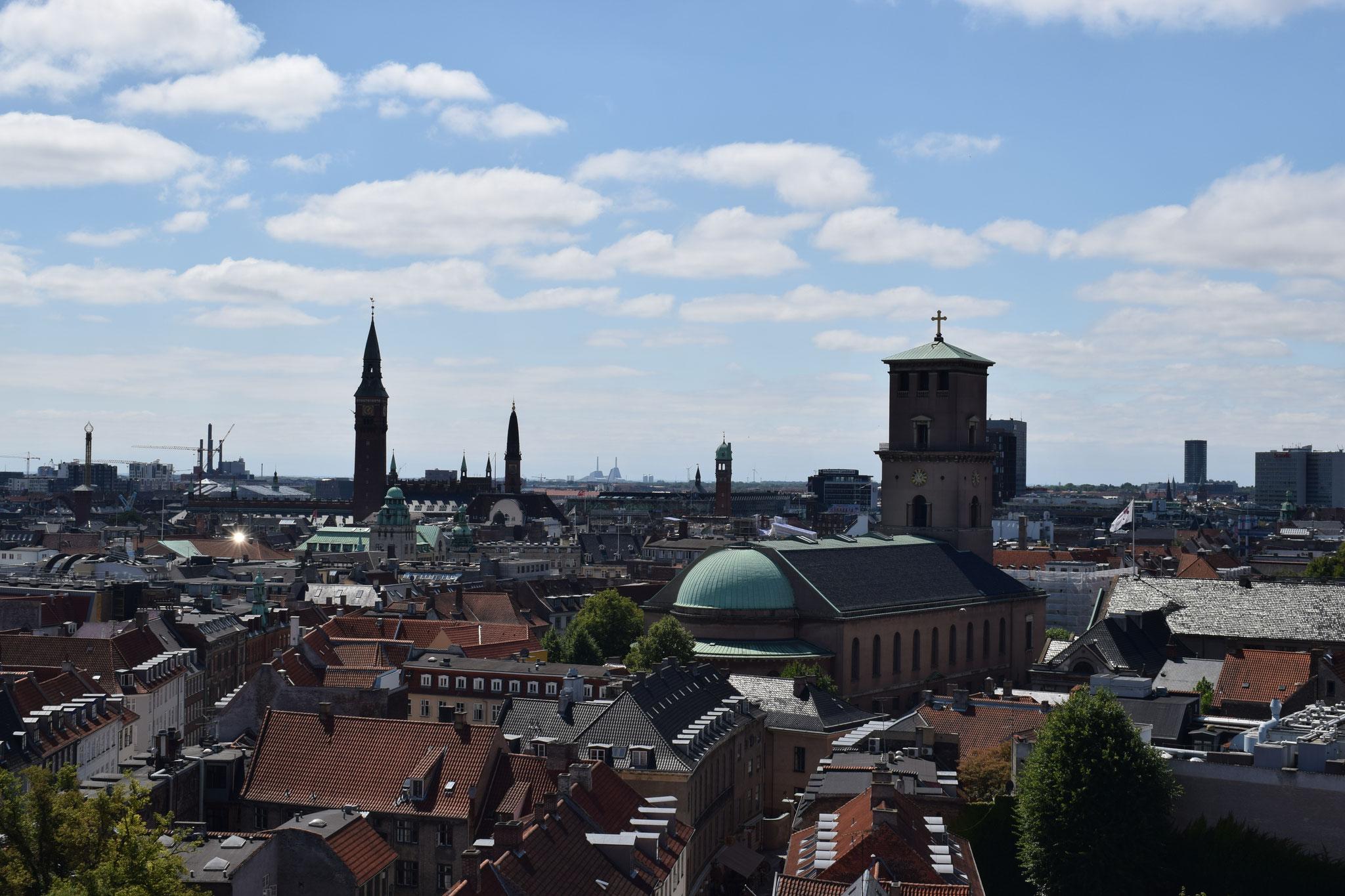 Ausblick auf Kopenhagen vom Rundetårn