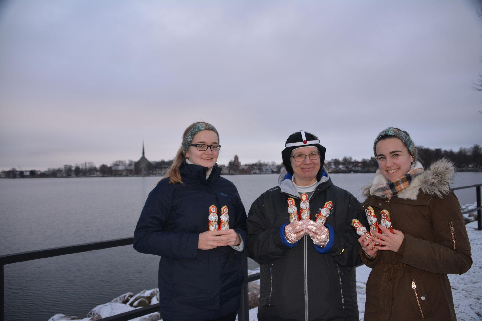 Maria Korten, Schwester Monika und Lioba Dietz in Vadstena