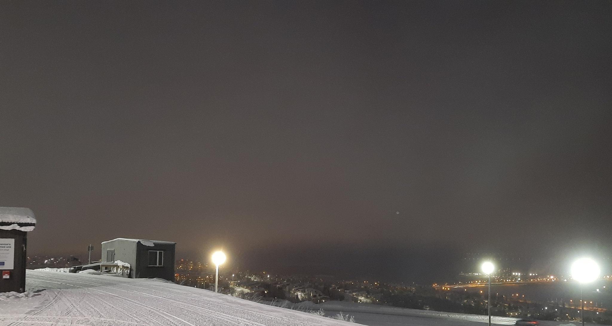 Blick auf Kiruna vom Skihang