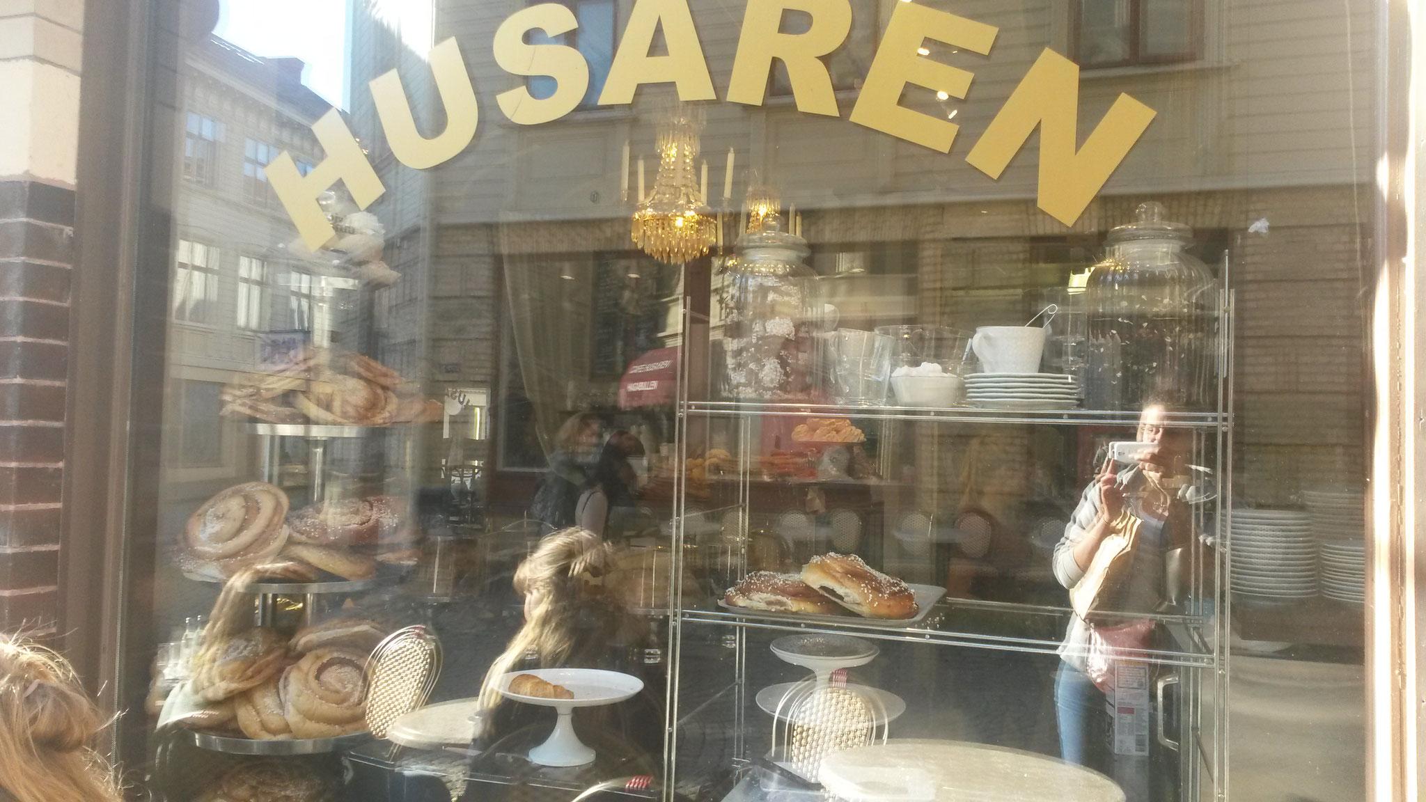 Zimtschnecken in einem Café in Göteborg