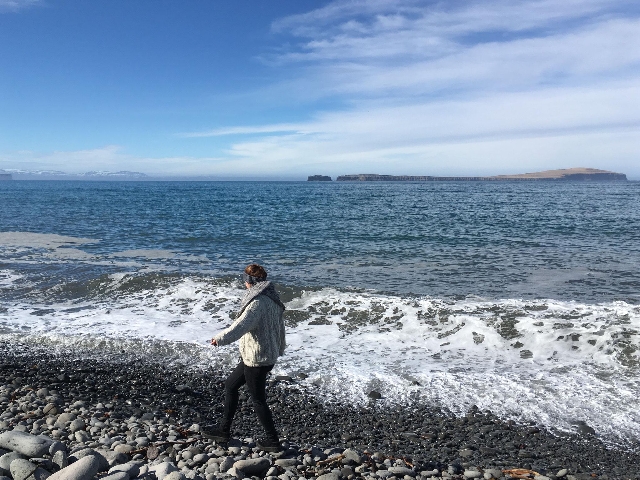 Miriam Schmelz am Meer
