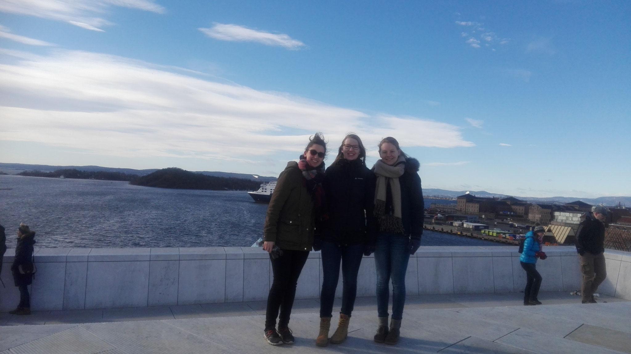 Raphaela Polk, Anne Hemken und Maris Lohmöller in Oslo