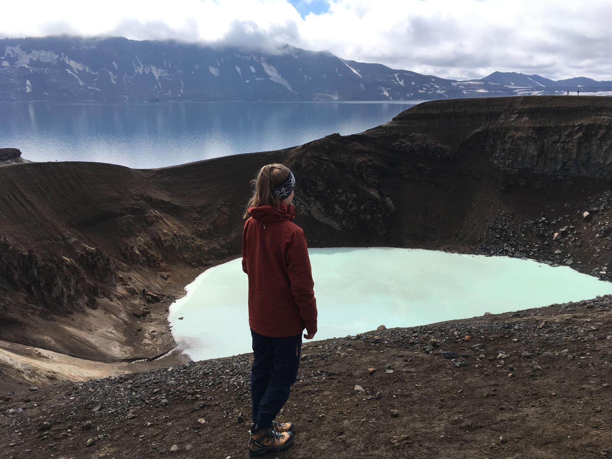 Ausflug zum Krater Víti im Hochland