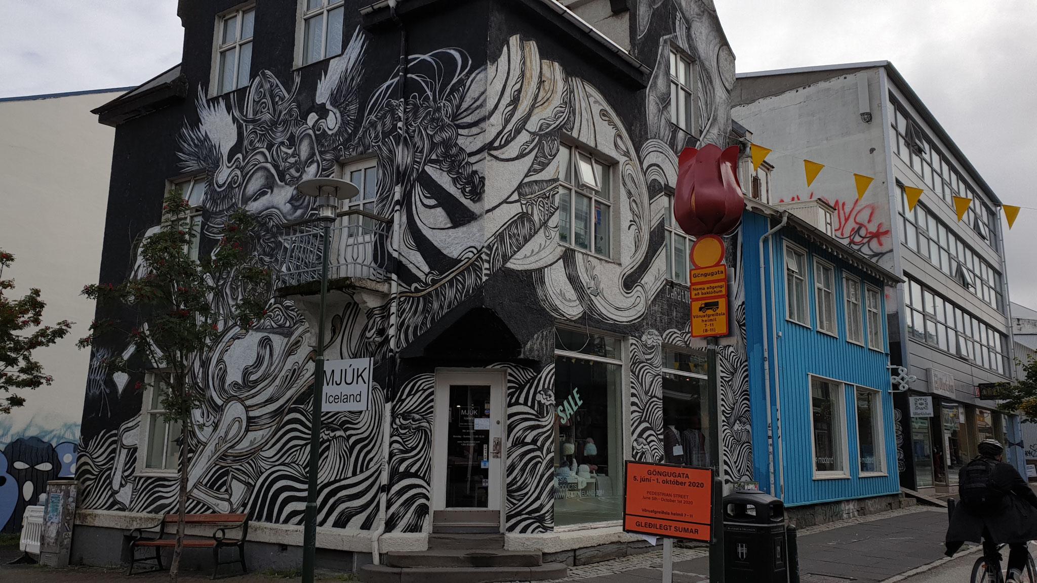 Streetart Gebäude (Foto: Lorenz)