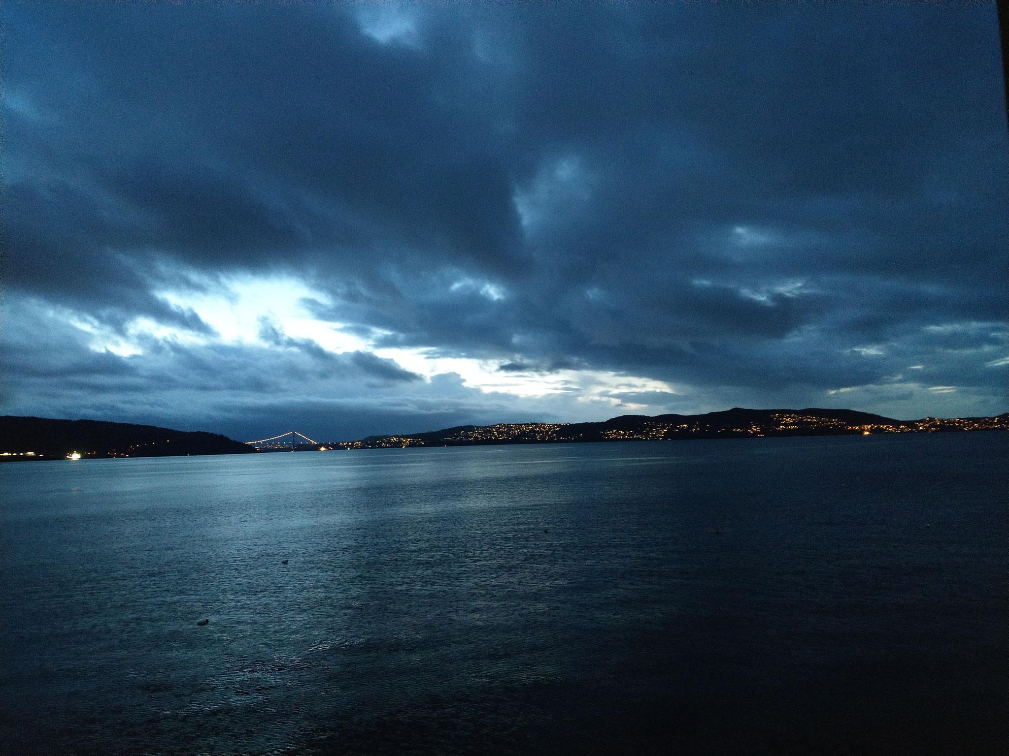 Schöner Ausblick in Bergen