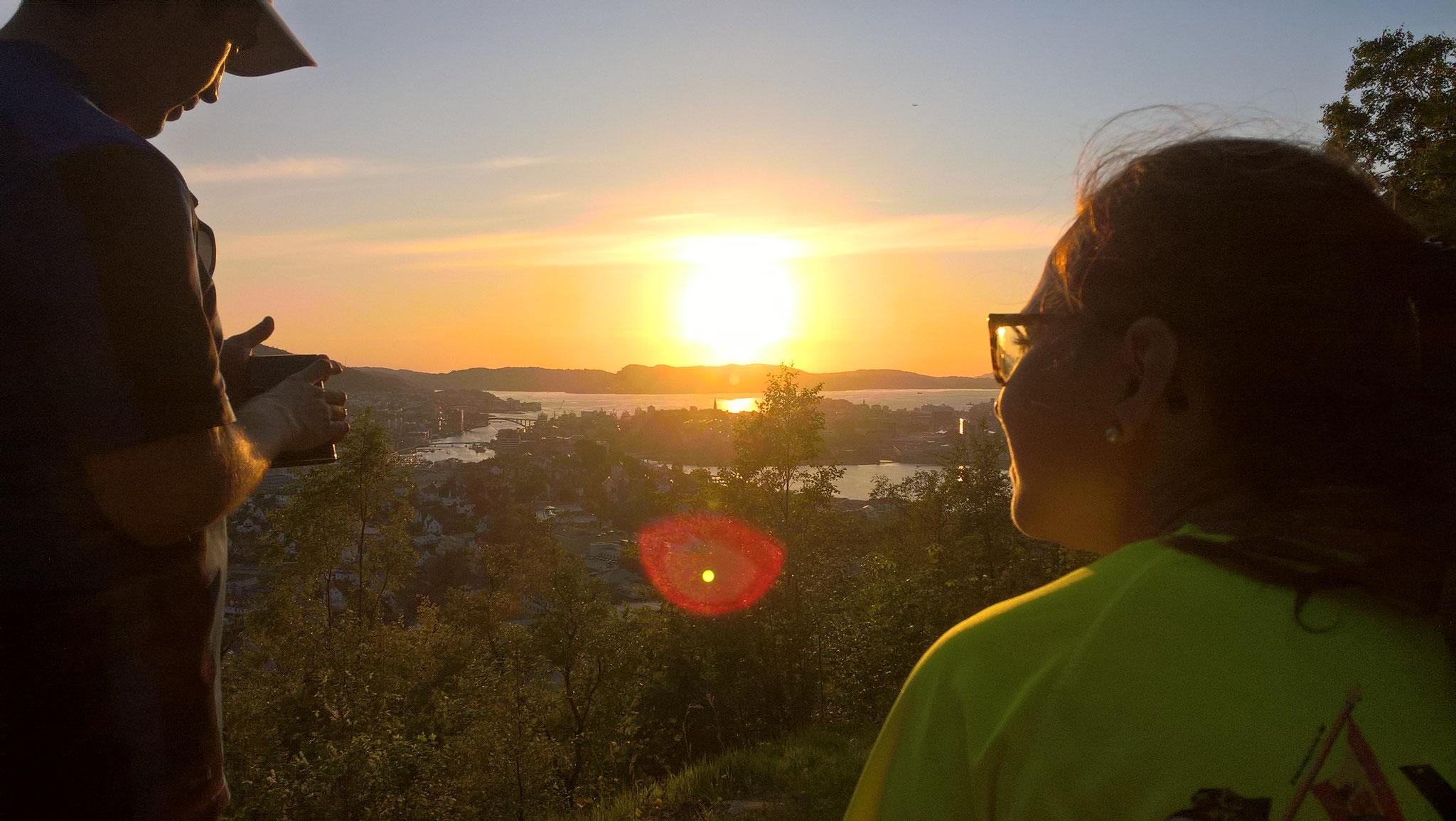 Sonnenuntergang auf dem Berg Ulrike