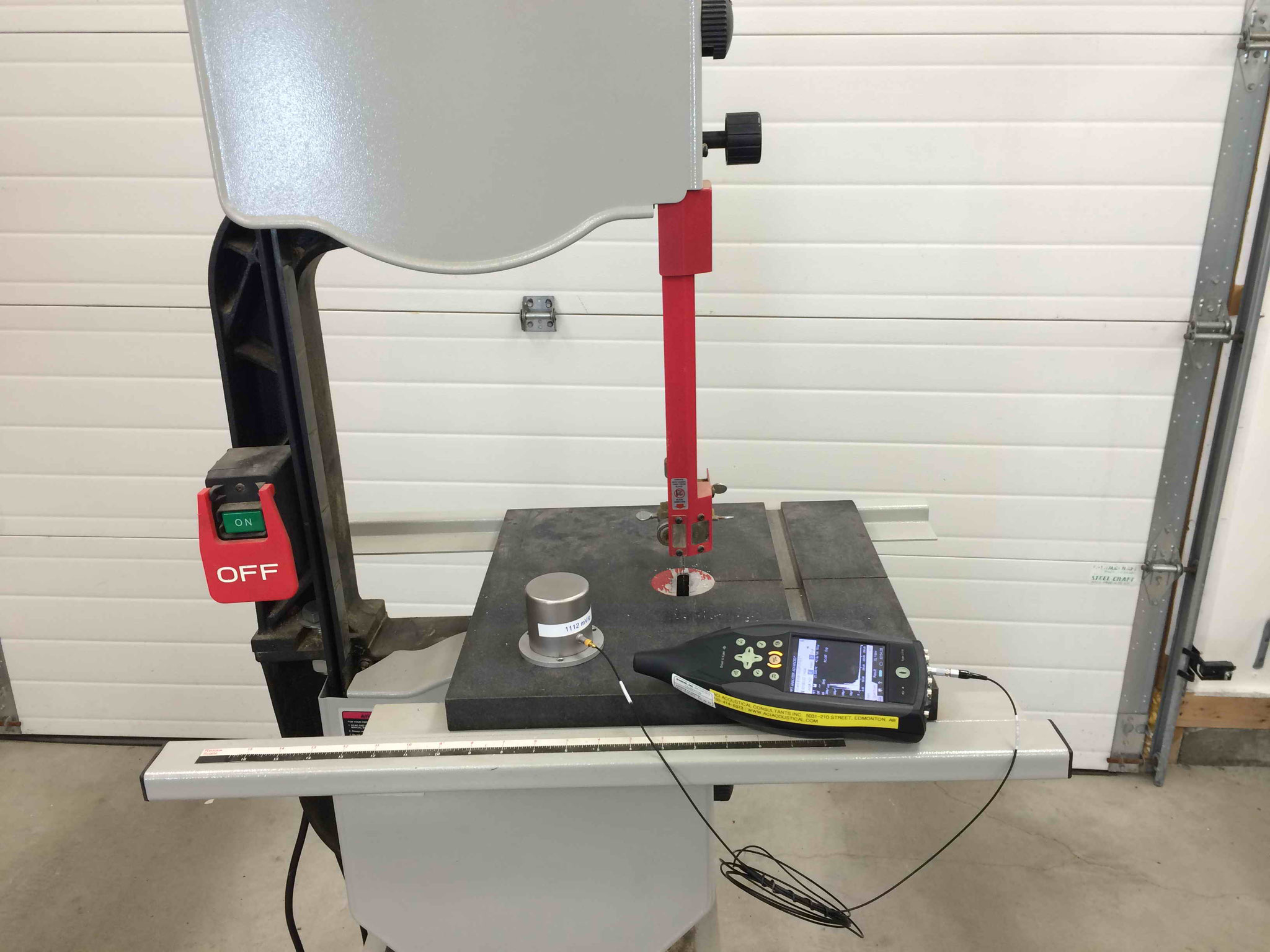 Vibration Measurement of Bandsaw