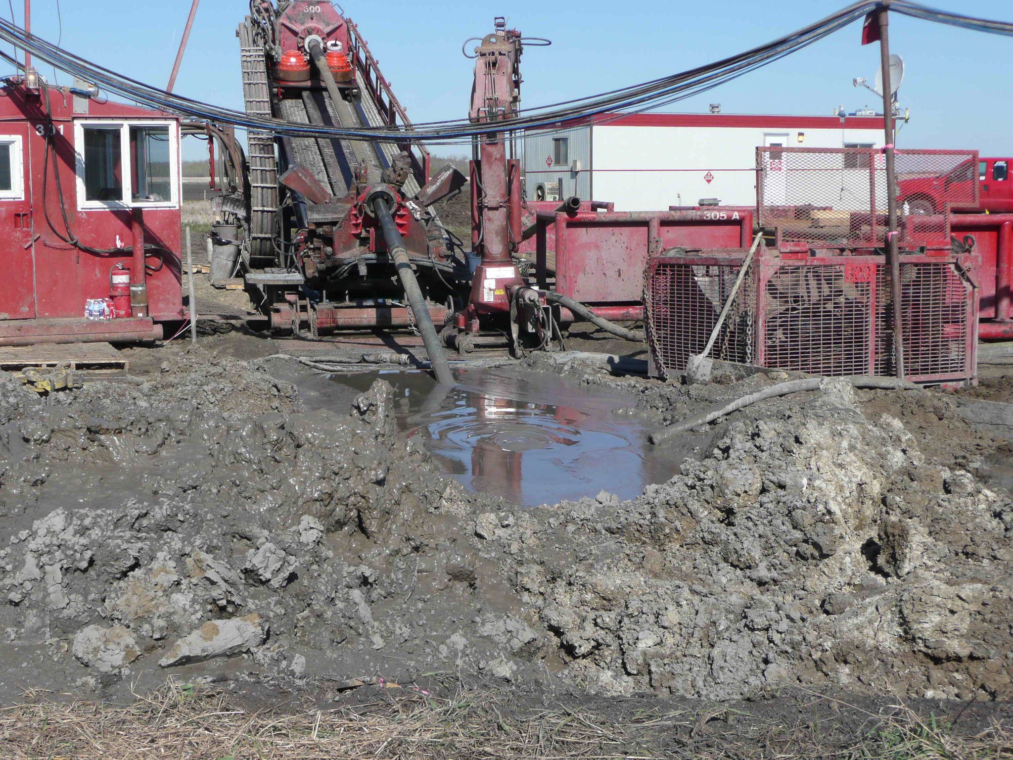 Horizontal Drilling Rig Site