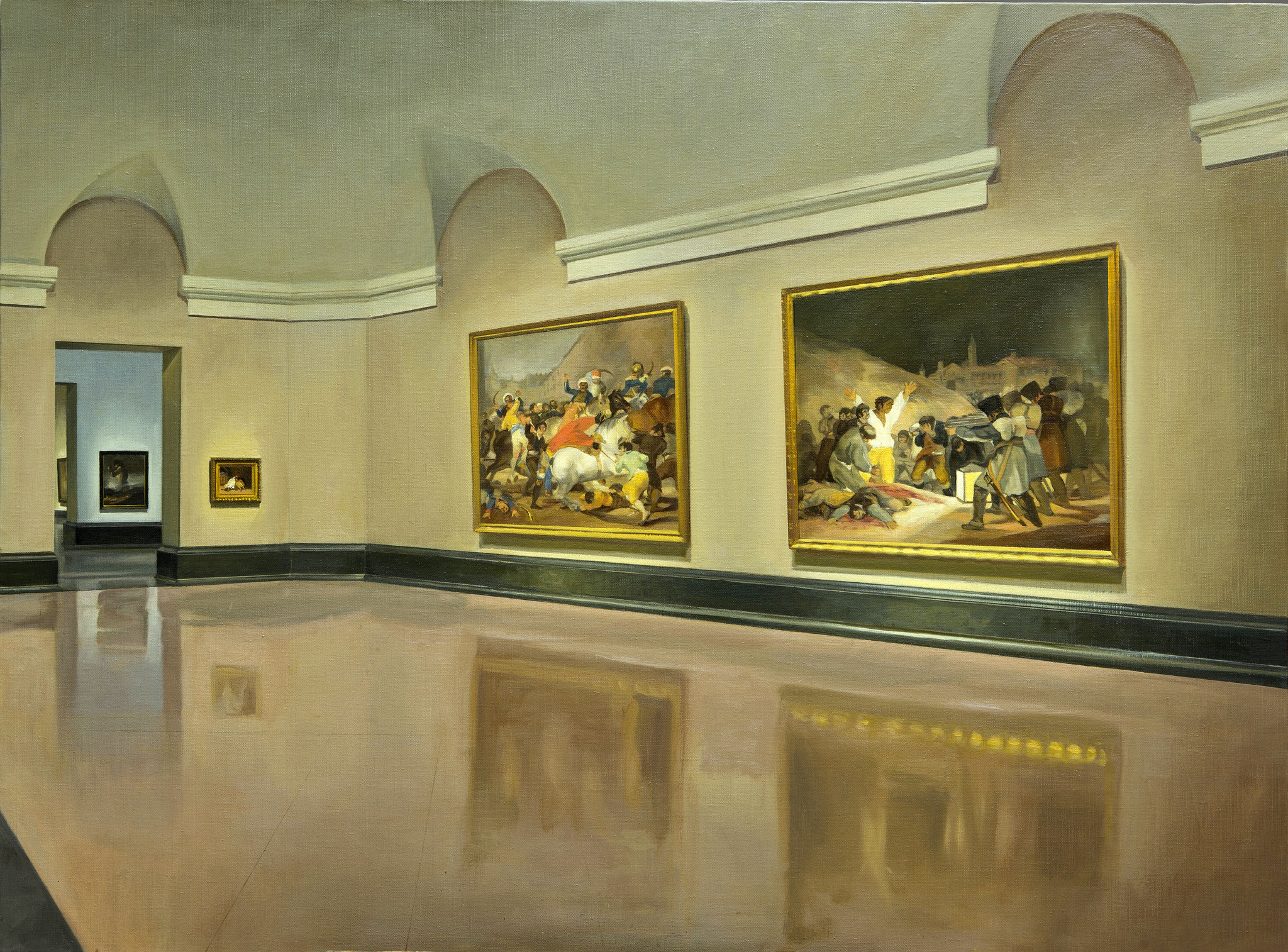 Vista de la sala del 2 de mayo de Goya, en el Museo del Prado. Óleo sobre lienzo, 97 x 130 cm.