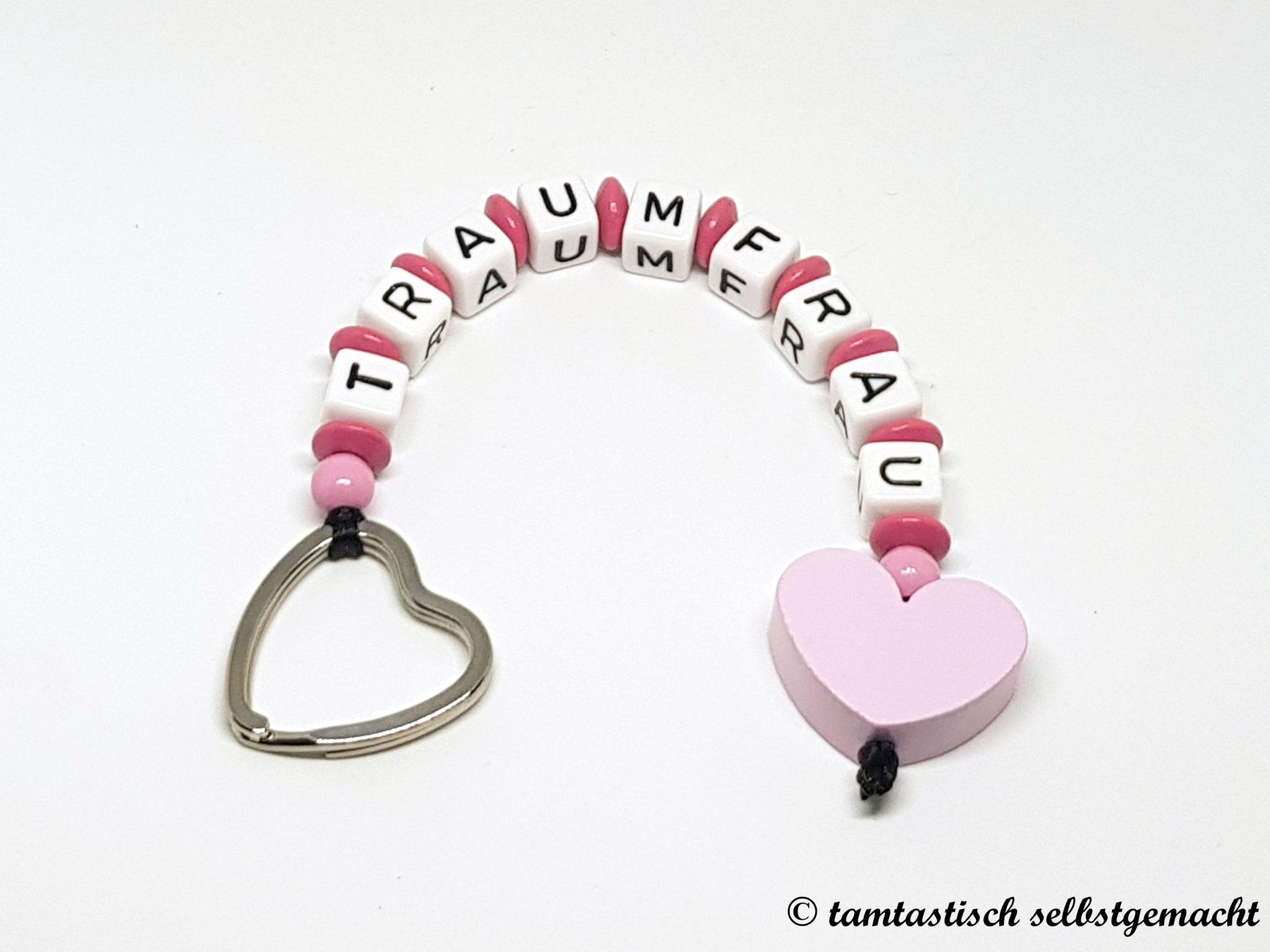 Schlüsselanhänger Traumfrau - Herz rosa