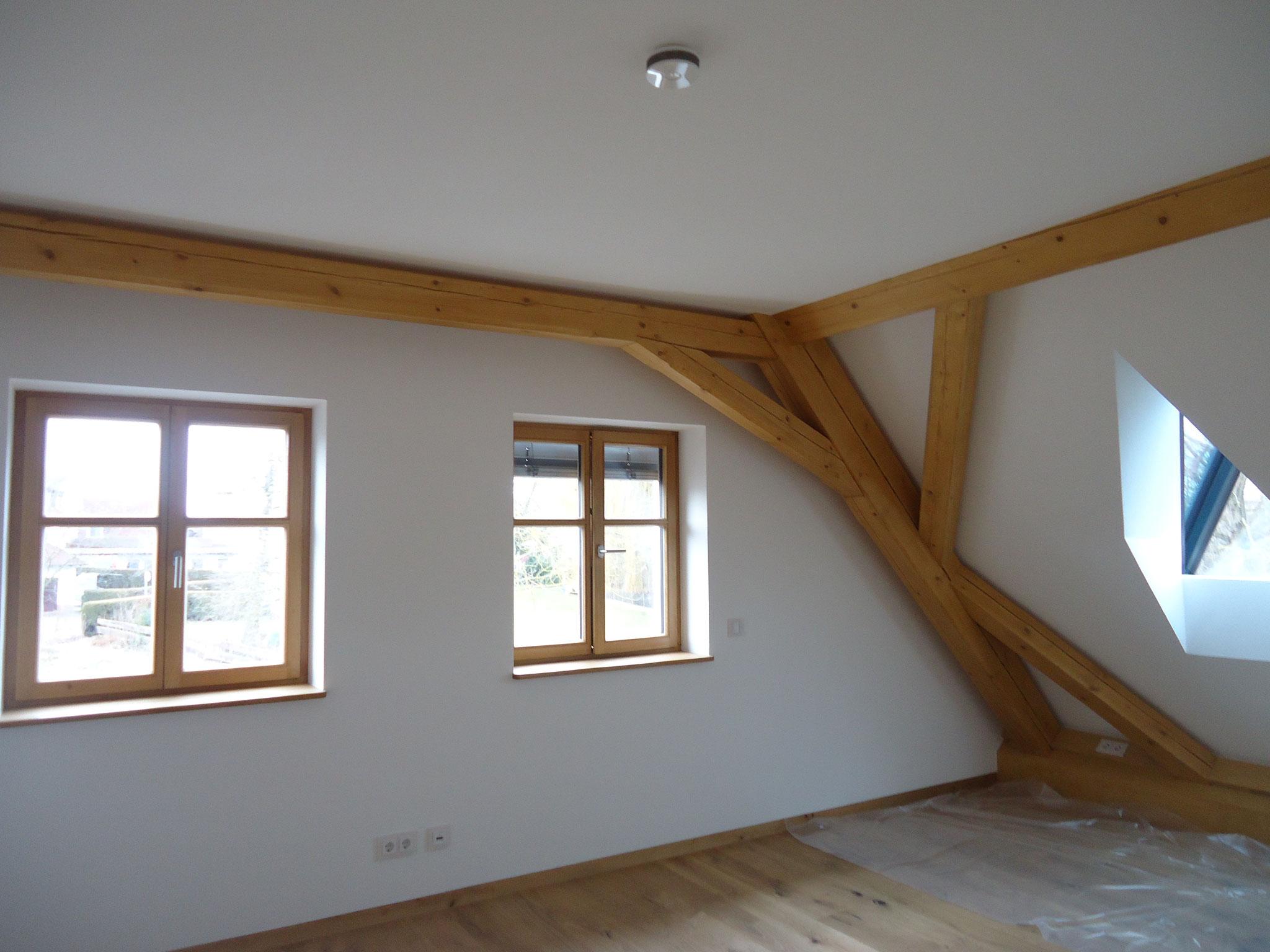 Wohnhaus in Freystadt, Innen- und Außenputz 2017 , Lehmputz