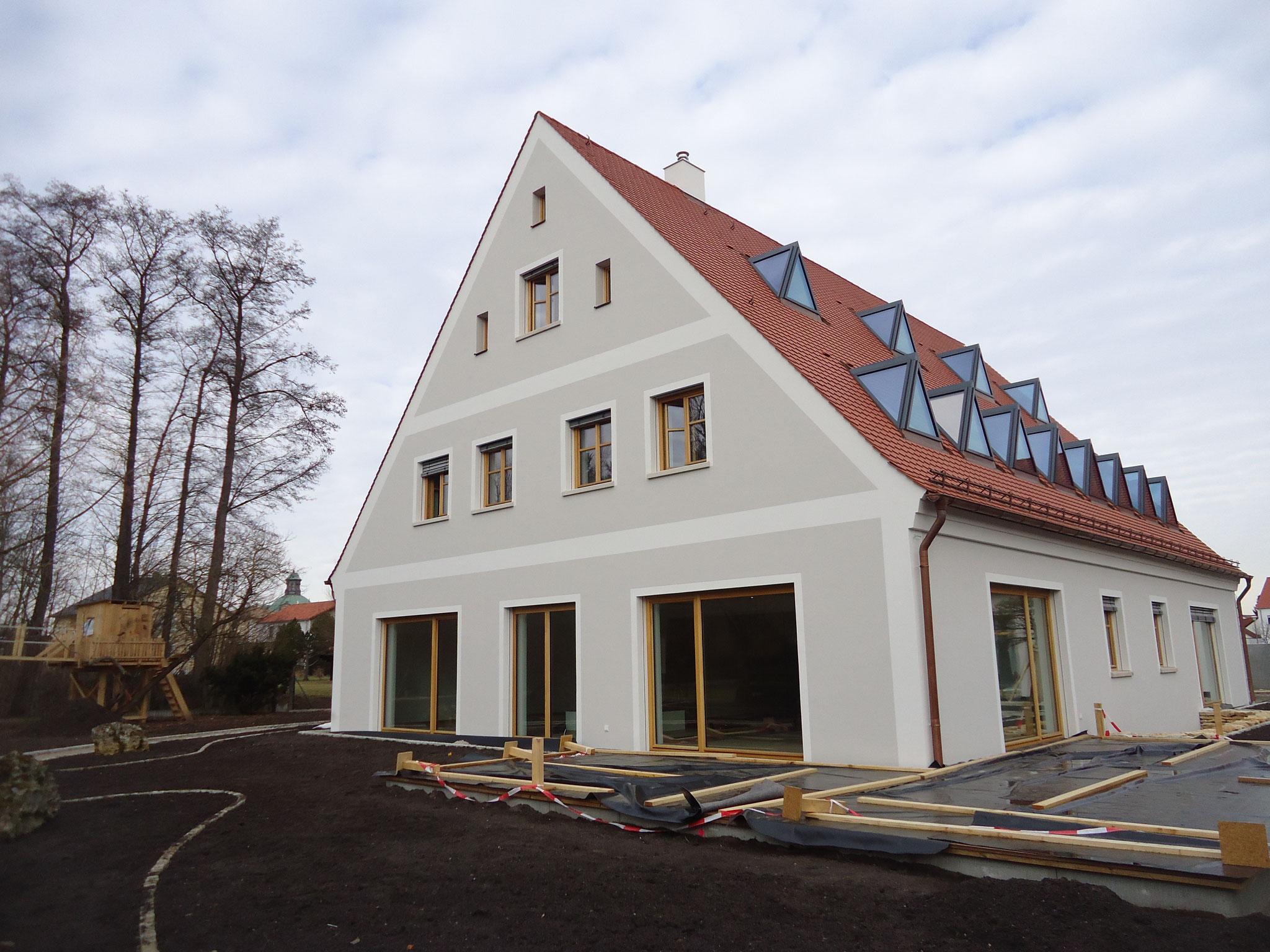 Wohnhau in Freystadt, Innen- und Außenputz 2017 , Lehmputz