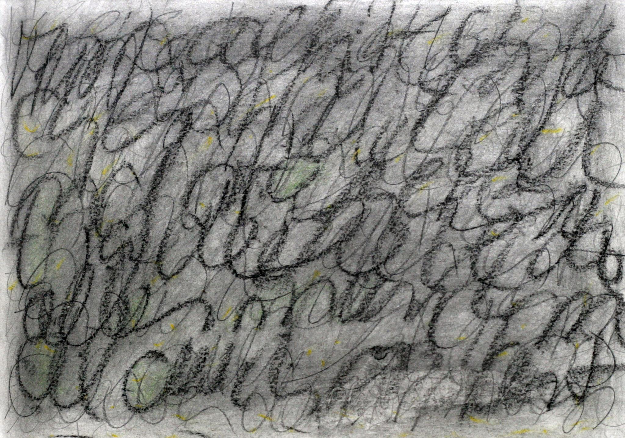 story I - 2014 - Bleistift, Kohle, Pastellkreide auf Papier 21 x 29,5 cm