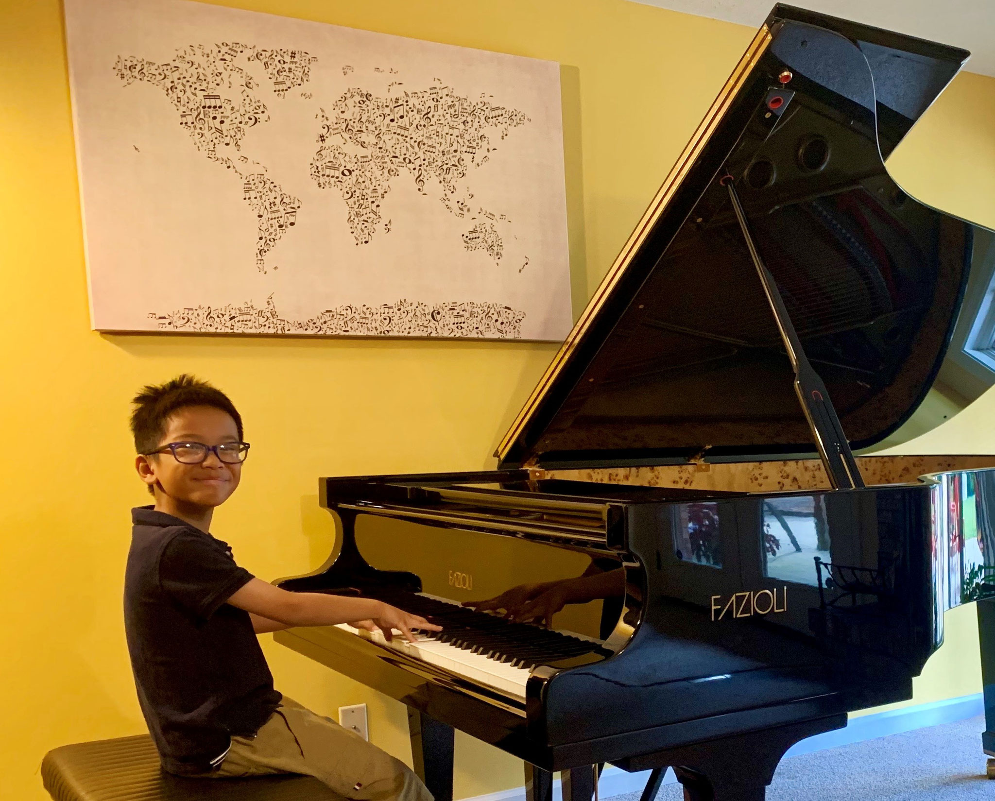 """BACH NGUYEN (8 y.o.) SELECTED AS A WINNER OF """"KIDS COMPOSE COMPETITION 2019 AT THE INDIANA UNIVERSITY JACOBS SCHOOL OF MUSIC""""!"""