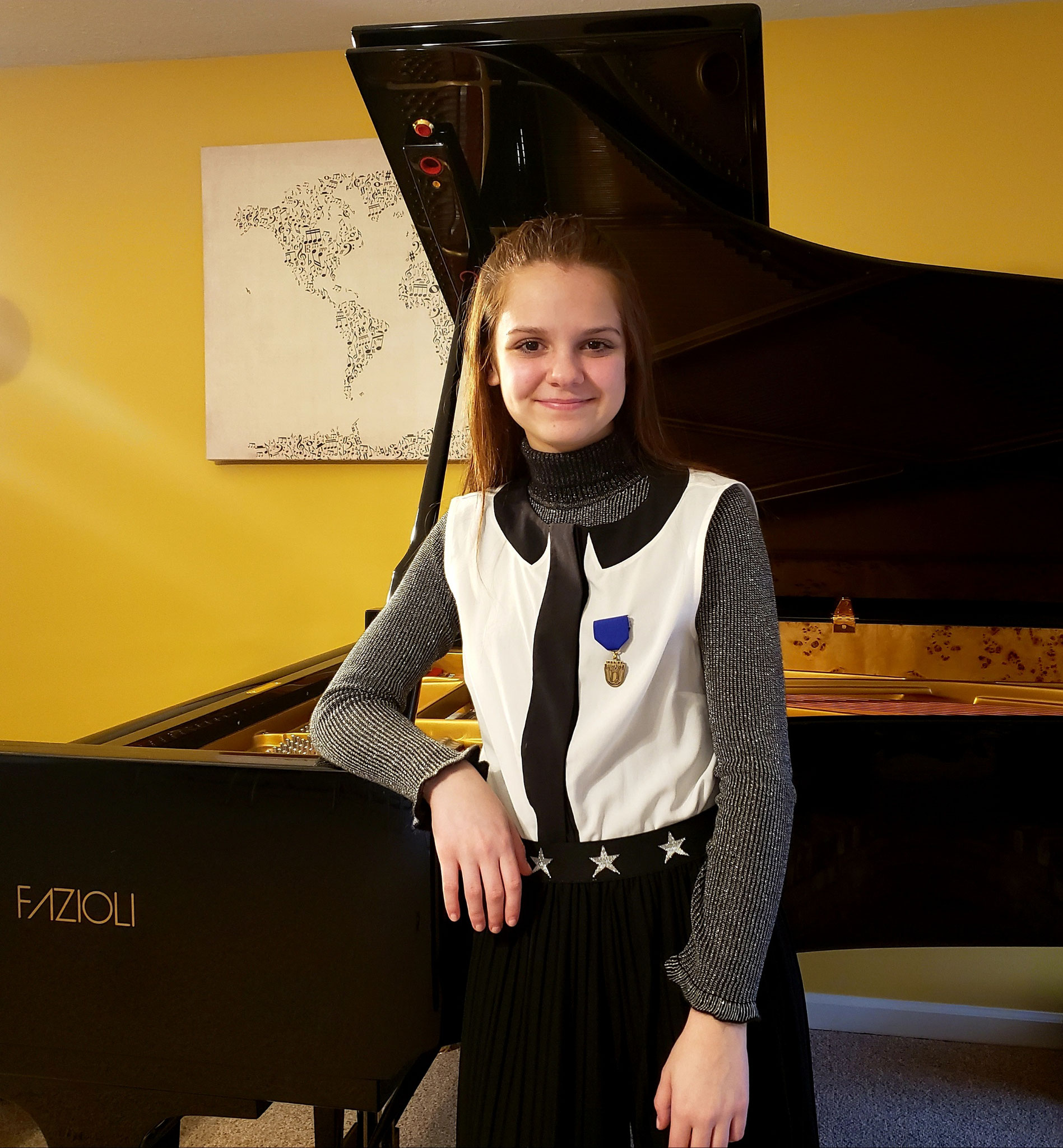 ELISA PLANO WON 1st PRIZE WITH PERFECT SCORE AT THE ISSMA COMPETITION IN BLOOMINGTON IN!