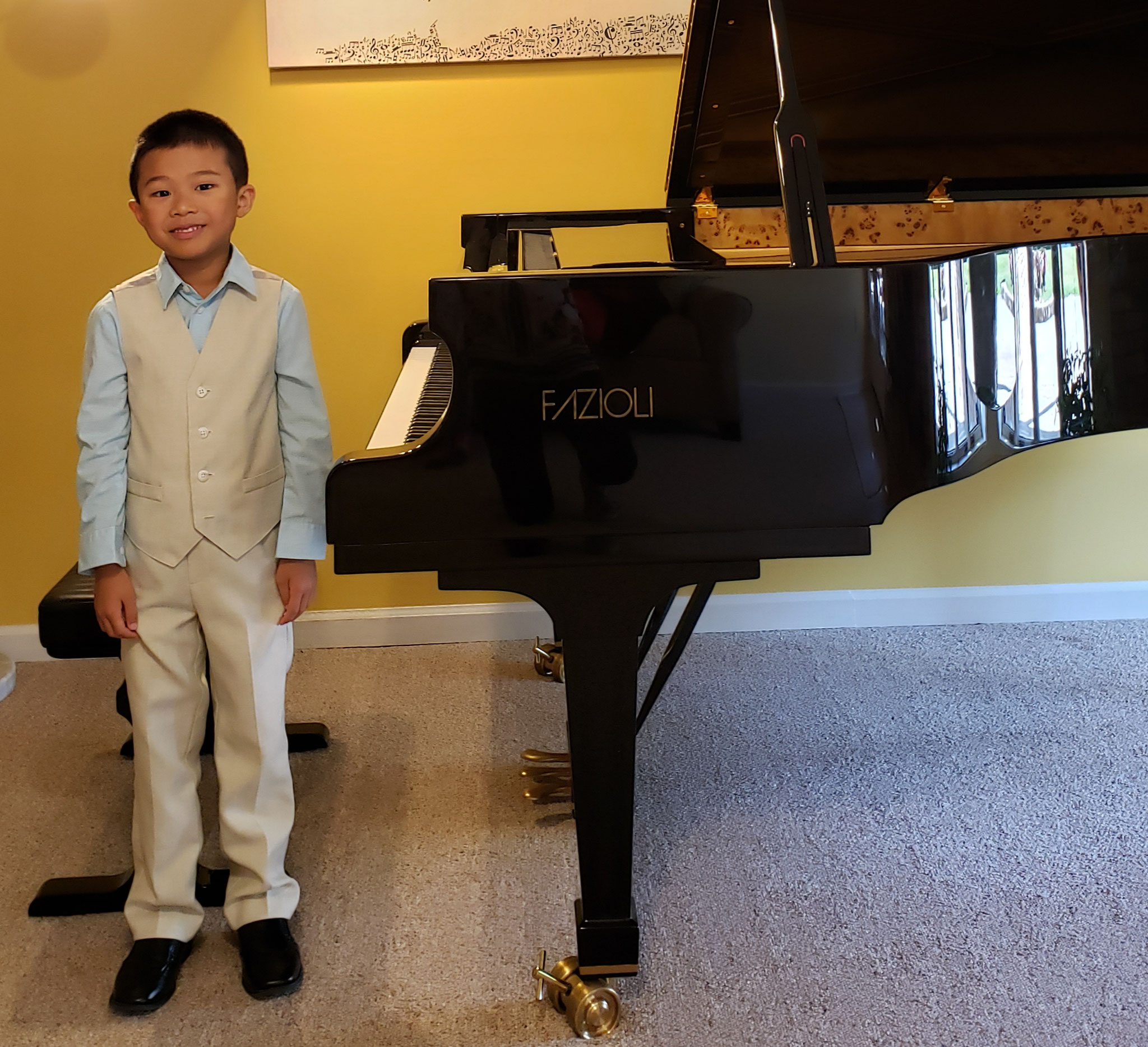 DAMON CHAN  (6 y.o.) WON 1st PRIZE AT THE 2019 YOUNG HOOSIER STATE PIANO COMPETITION IN COLUMBUS (Indiana, USA)!