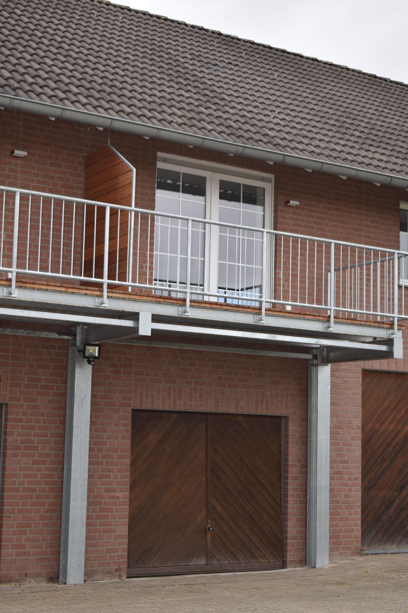 Außenansicht der Balkons der Ferienwohnung
