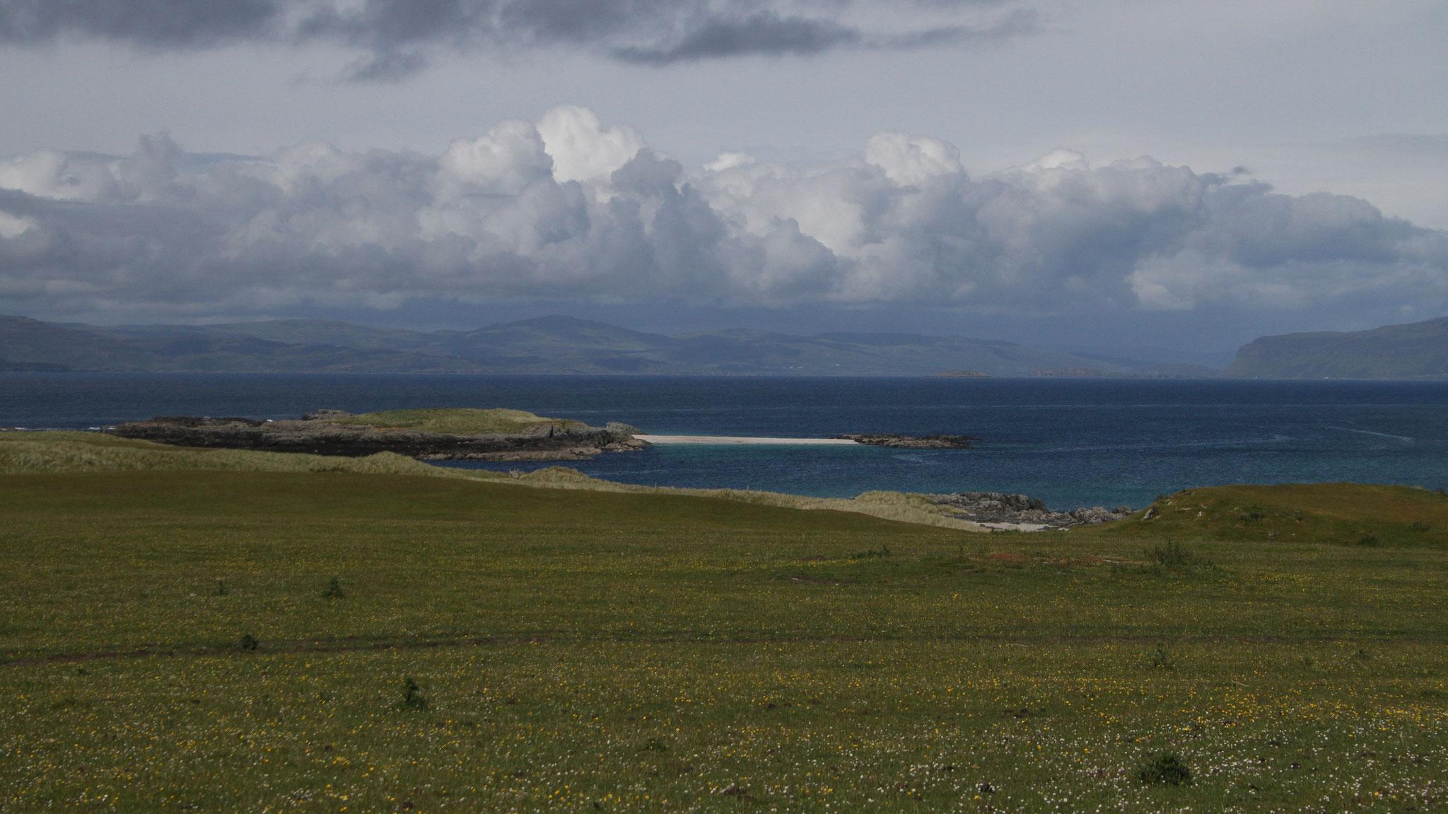 Einsamer Sandstrand auf Iona