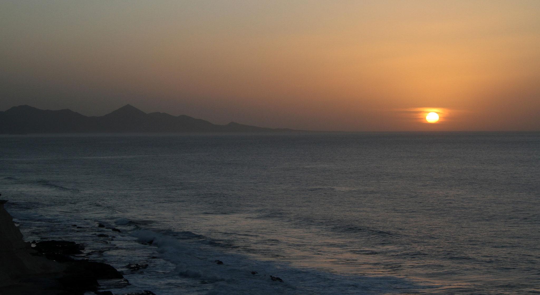 ... und der Sonnenuntegang an der Westküste beschliessen diese Bilderserie.