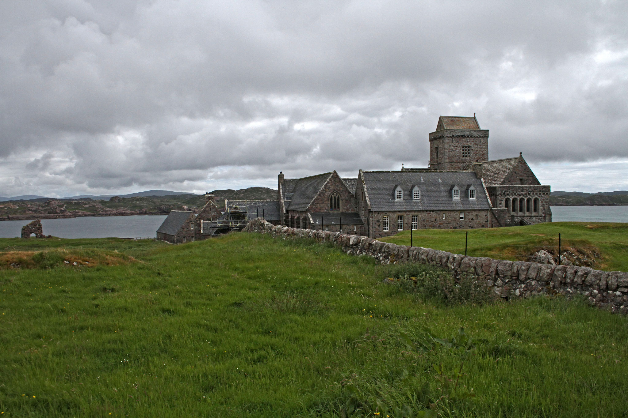 Die Umgebung der Iona Abbey ist gutes Corncrake-Habitat und hier ...