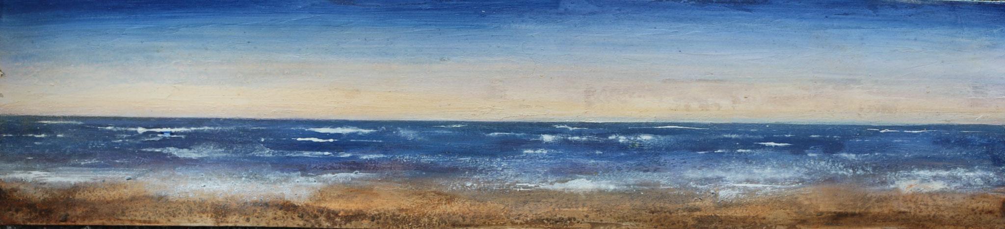 Am Atlanik, Mischtechnik, 22 x 99 cm