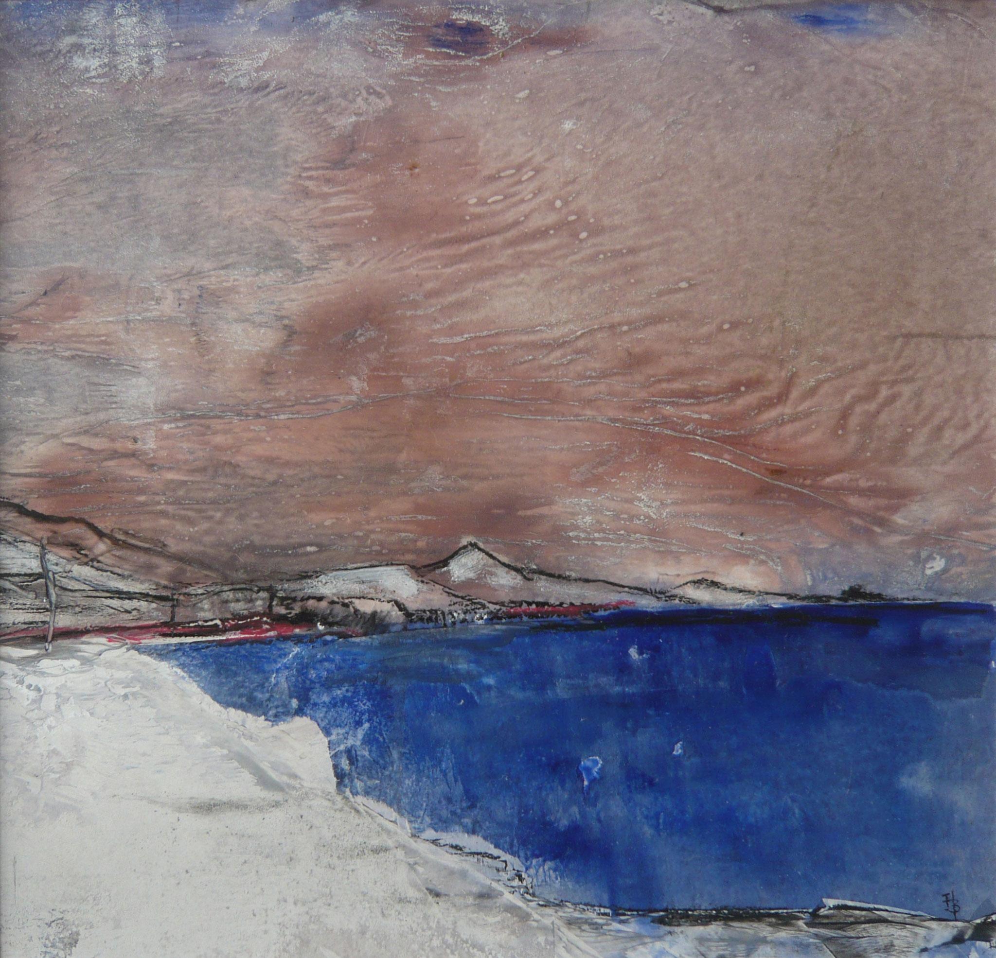 In der Dämmerung I, Mischtechnik, 36 x 36 cm