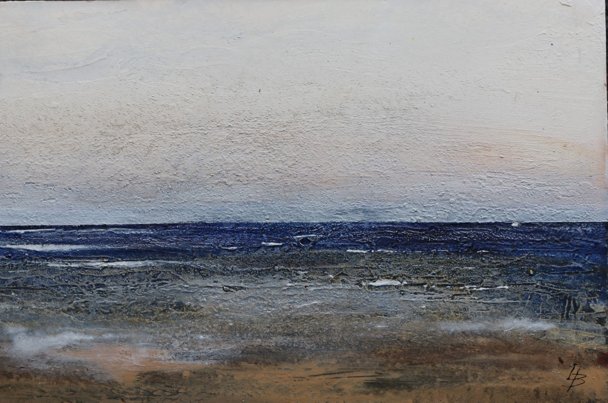 Meeresrauschen, Mischtechnik, 23 x 35 cm