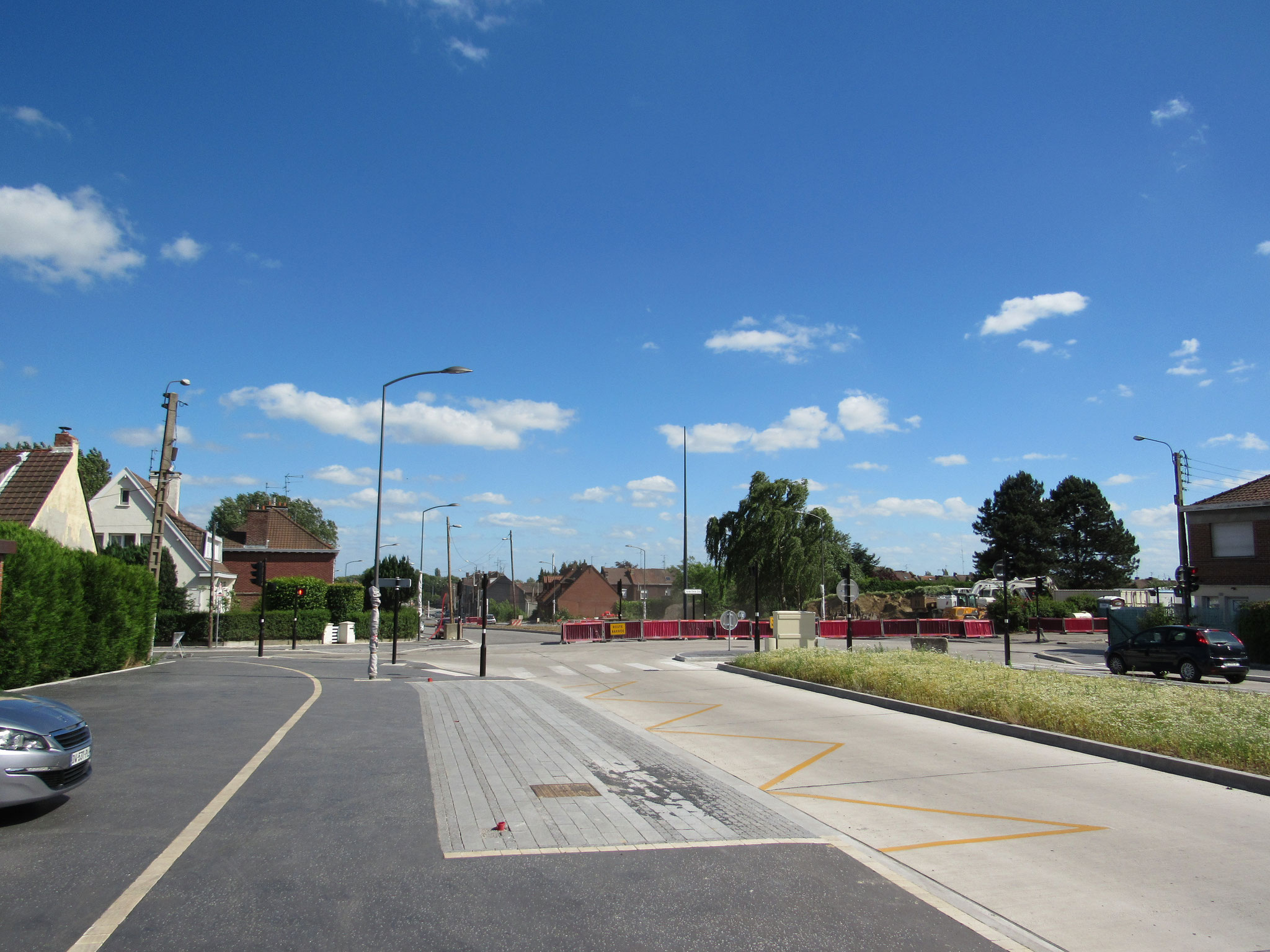 """L'emplacement du  nouvel arrêt de bus """"Vallon"""" en direction de Roubaix Eurotéléport"""